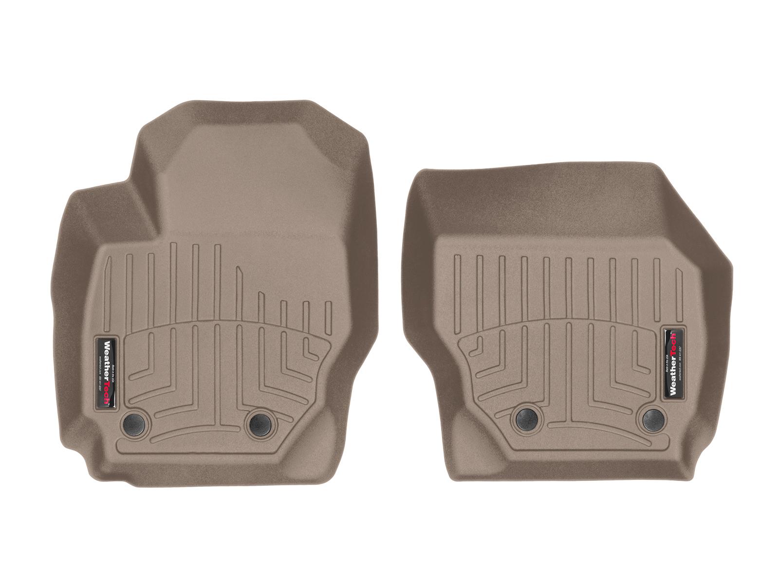 Tappeti gomma su misura bordo alto Volvo XC70 07>07 Marrone A4427*