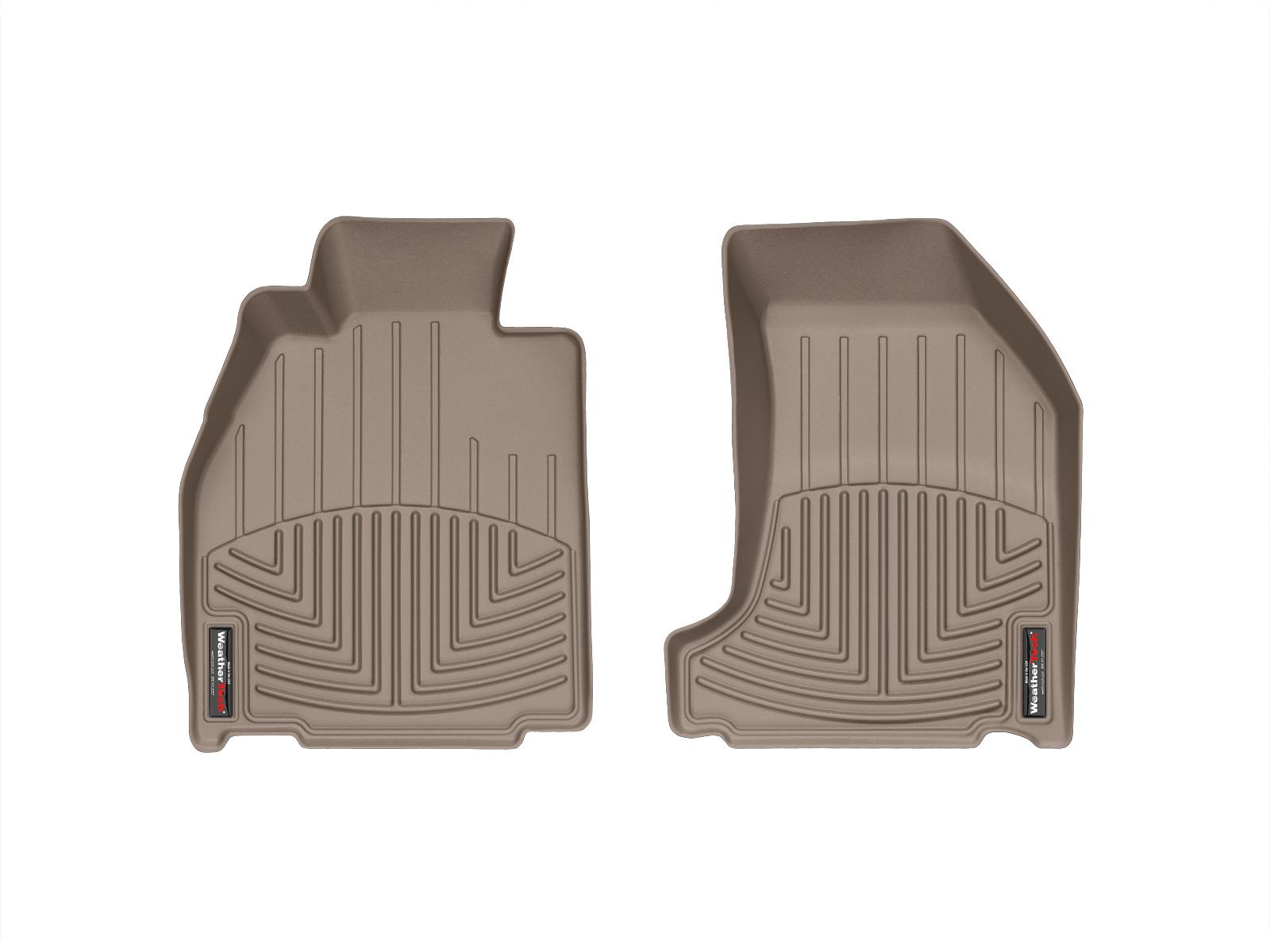 Tappeti gomma su misura bordo alto Porsche® Cayman® 06>12 Marrone A3156*