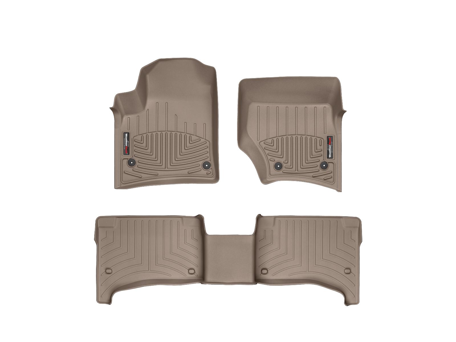 Tappeti gomma su misura bordo alto Volkswagen Touareg 07>08 Marrone A4293*