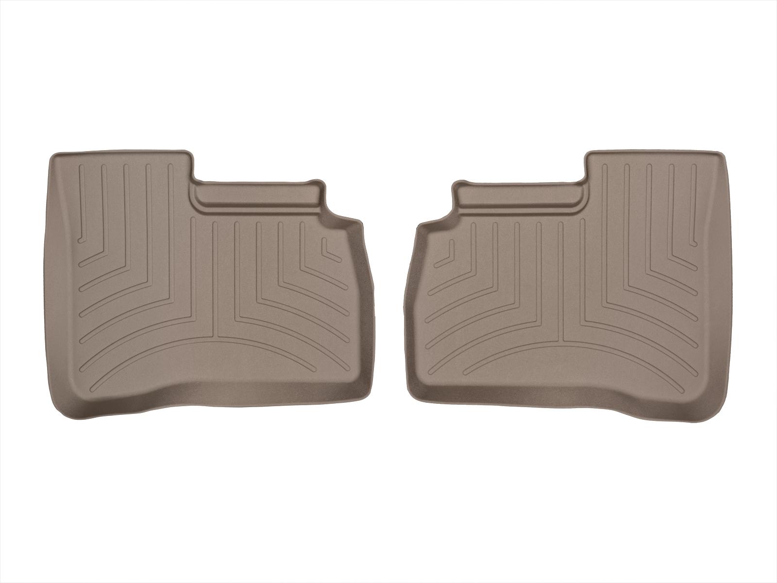 Tappeti gomma su misura bordo alto Mercedes S-Class 06>12 Marrone A2559