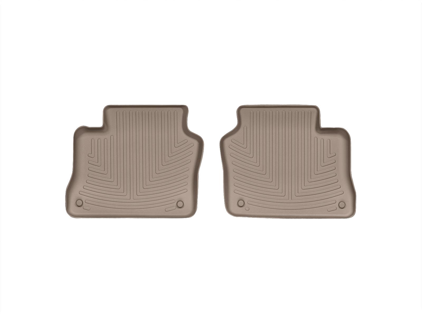 Tappeti gomma su misura bordo alto Porsche® Panamera 10>16 Marrone A3173