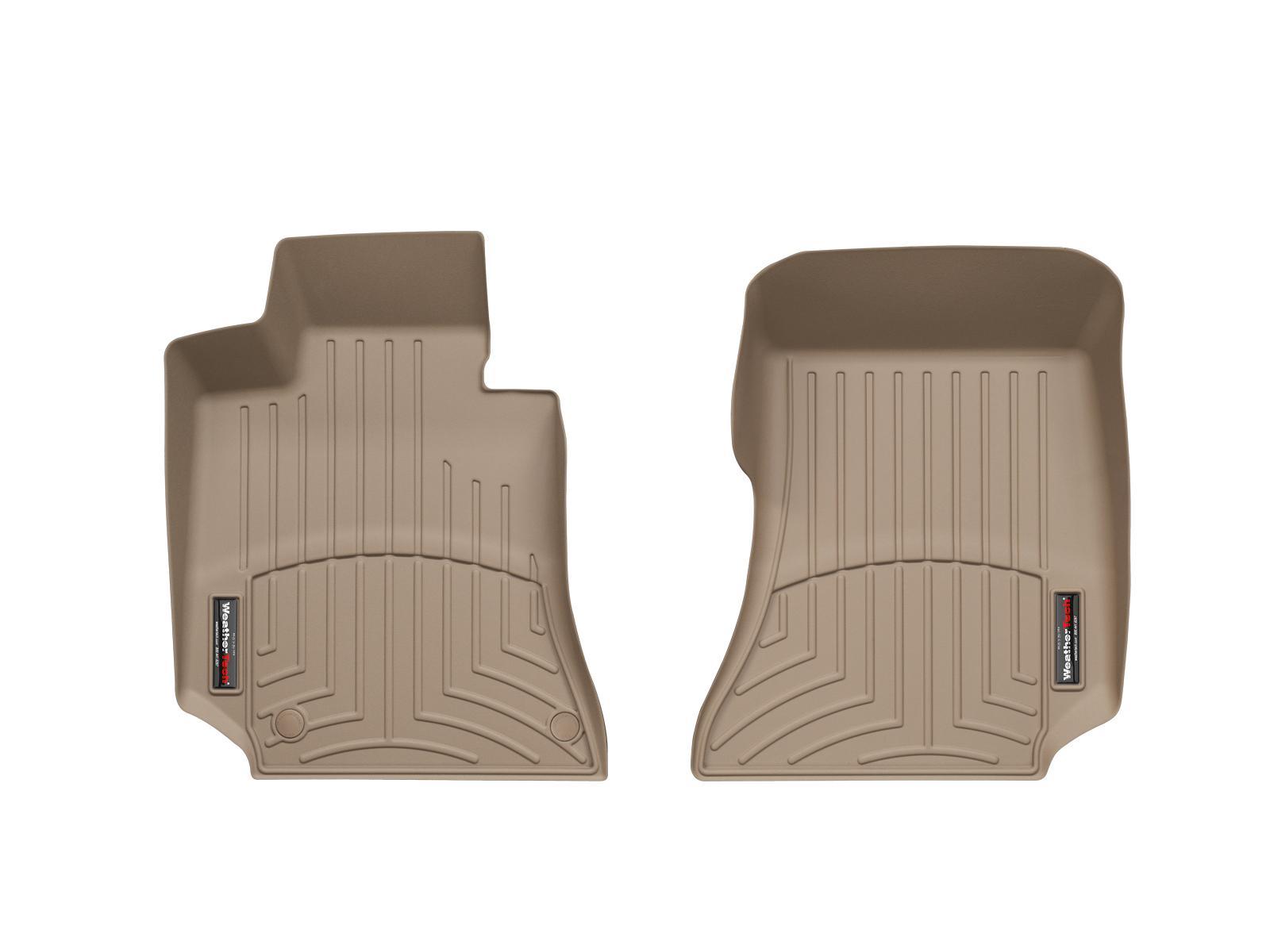 Tappeti gomma su misura bordo alto Mercedes CLS-Class 14>14 Marrone A2335*