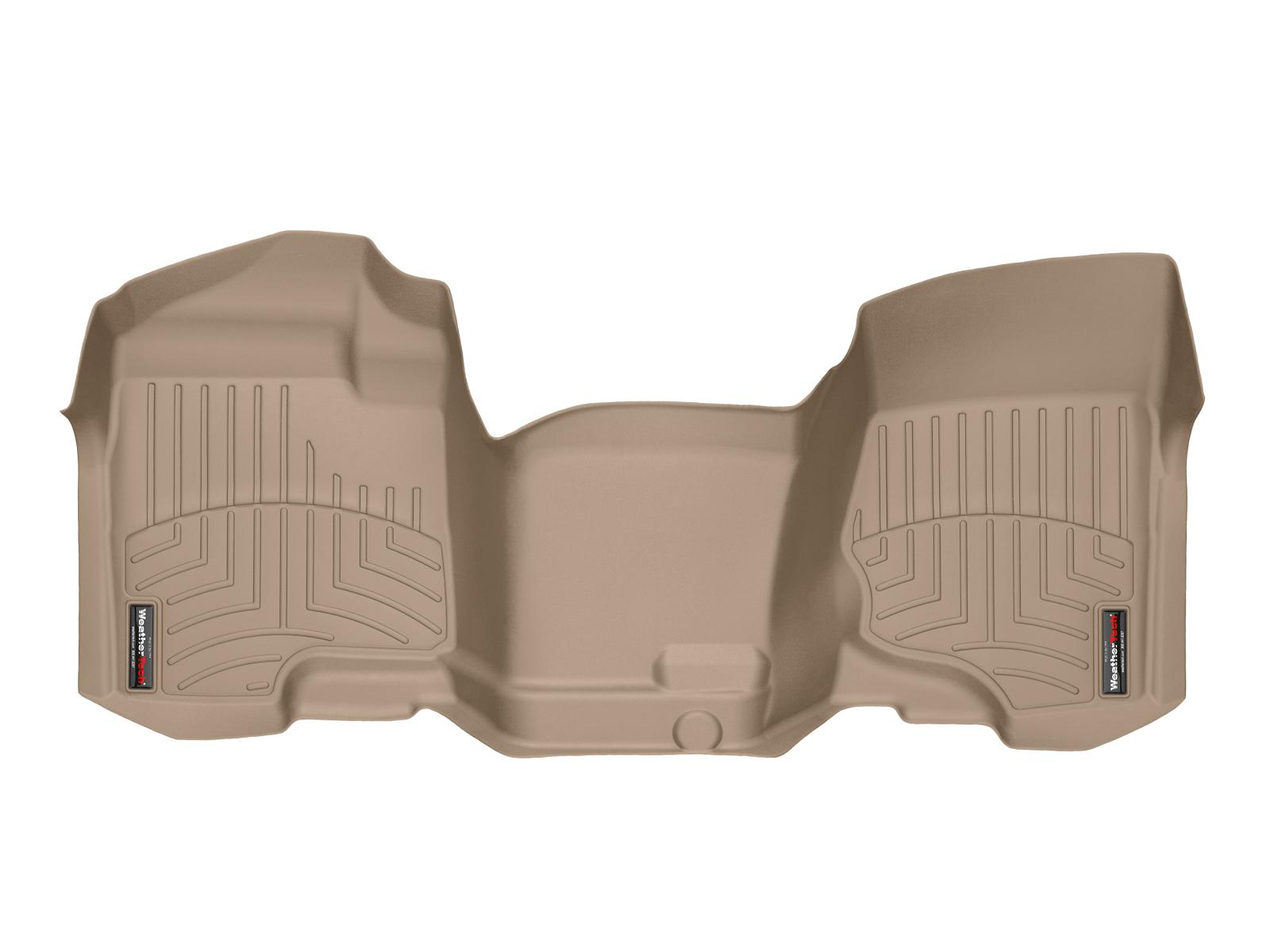 Tappeti gomma su misura bordo alto Chevrolet Silverado 08>13 Marrone A177