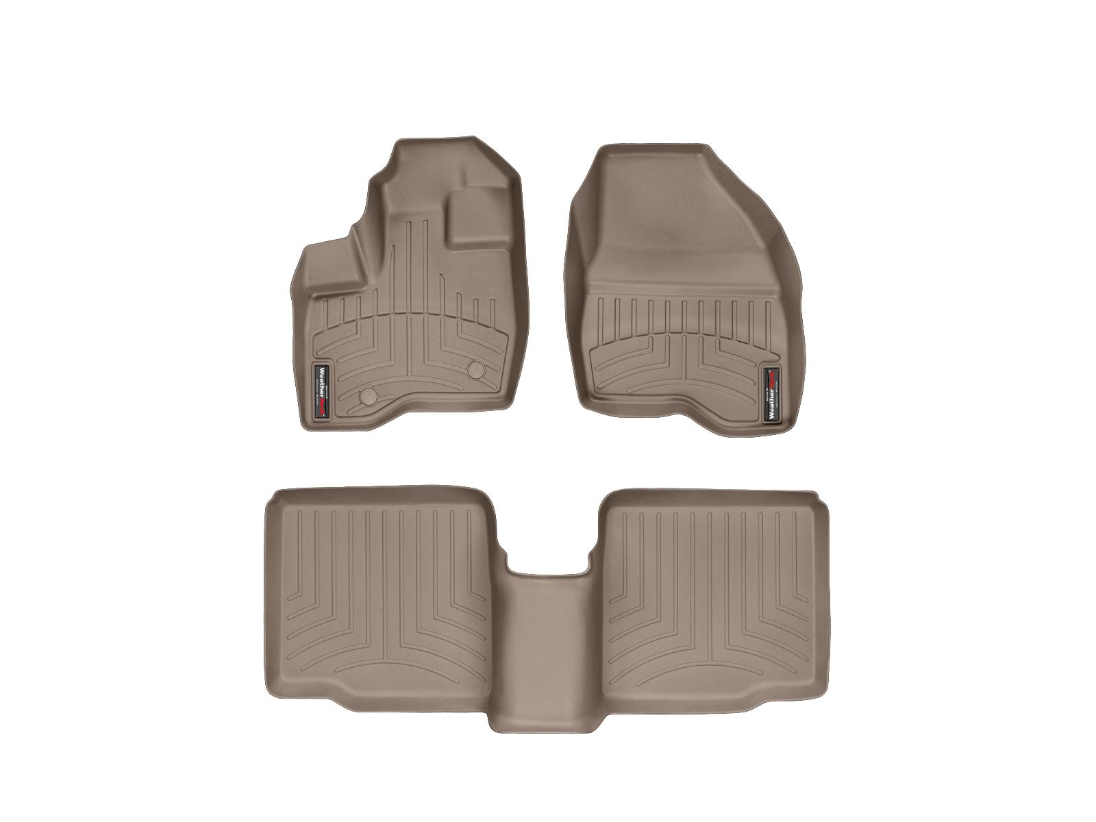 Tappeti gomma su misura bordo alto Ford Explorer 11>14 Marrone A865*