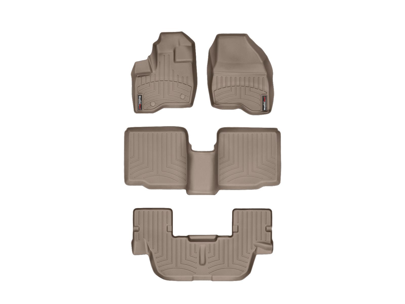 Tappeti gomma su misura bordo alto Ford Explorer 11>14 Marrone A866*