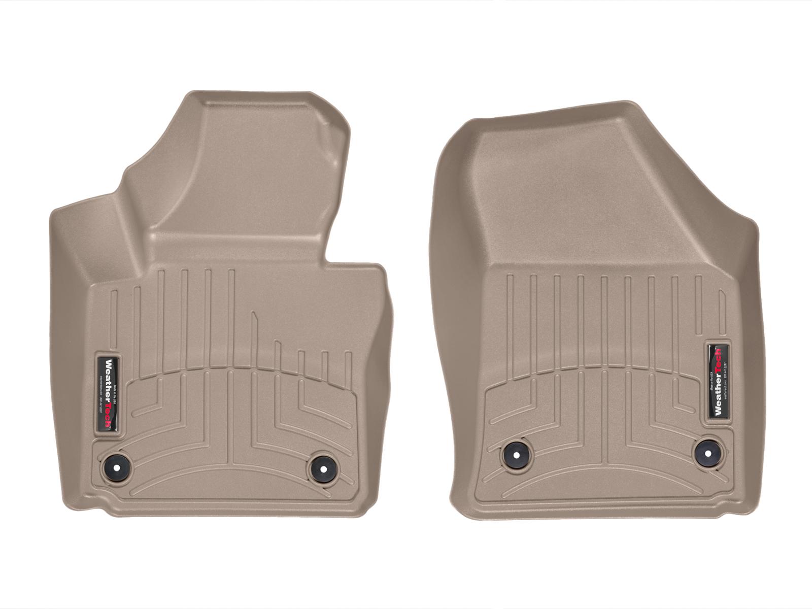 Tappeti gomma su misura bordo alto Volkswagen Touran 10>14 Marrone A4339*