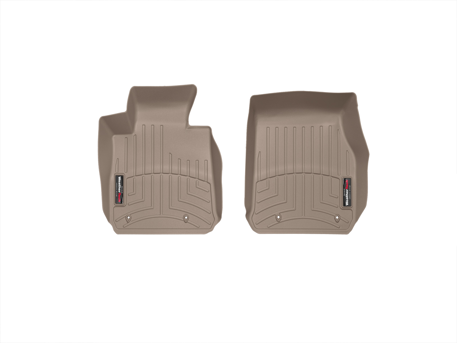 BMW Serie 1 (F20/F21) 11>17 Tappeti gomma su misura bordo alto marrone