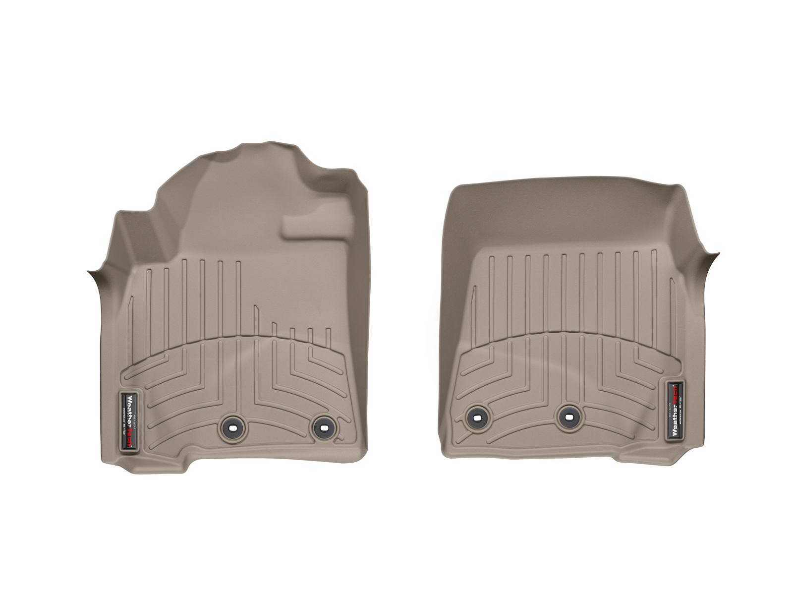 Tappeti gomma su misura bordo alto Toyota Land Cruiser V8 12>12 Marrone A3708*