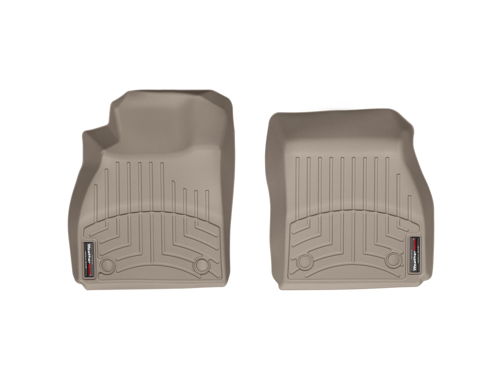 Tappeti gomma su misura bordo alto Chevrolet Malibu 13>15 Marrone A144