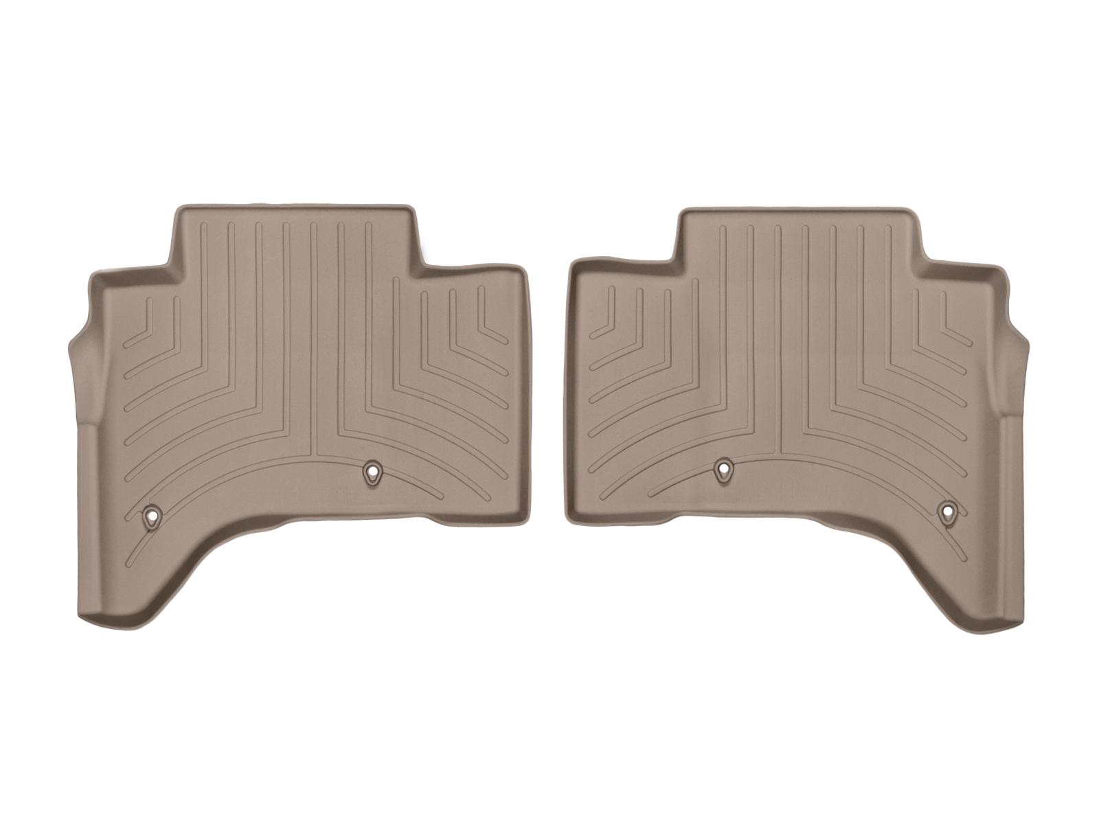 Tappeti gomma su misura bordo alto Land Rover 13>17 Marrone A1985*