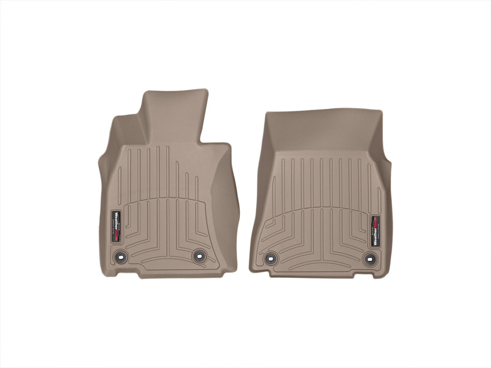 Tappeti gomma su misura bordo alto Lexus LS 13>17 Marrone A2069