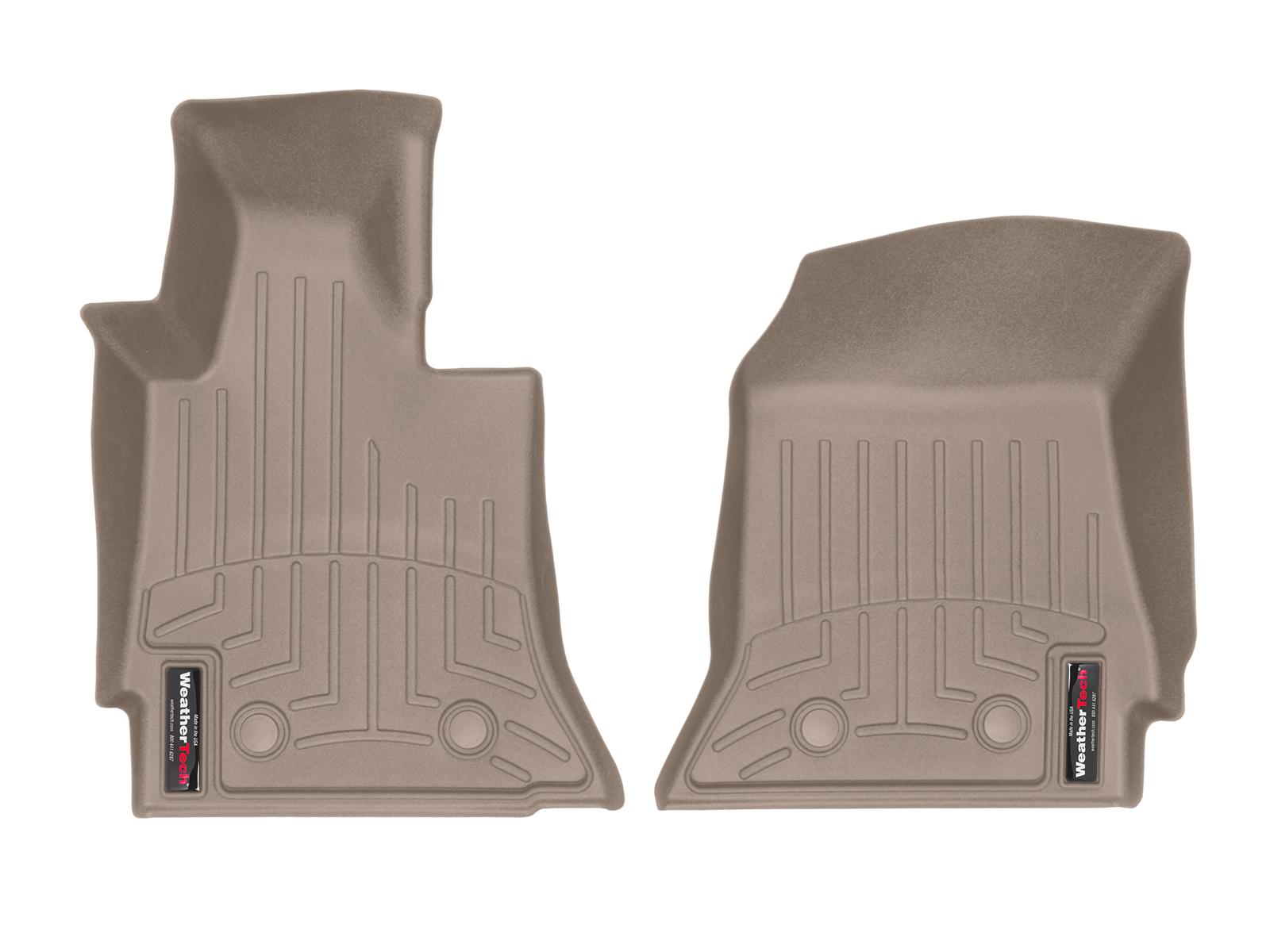 Tappeti gomma su misura bordo alto Chevrolet Corvette 14>17 Marrone A117*