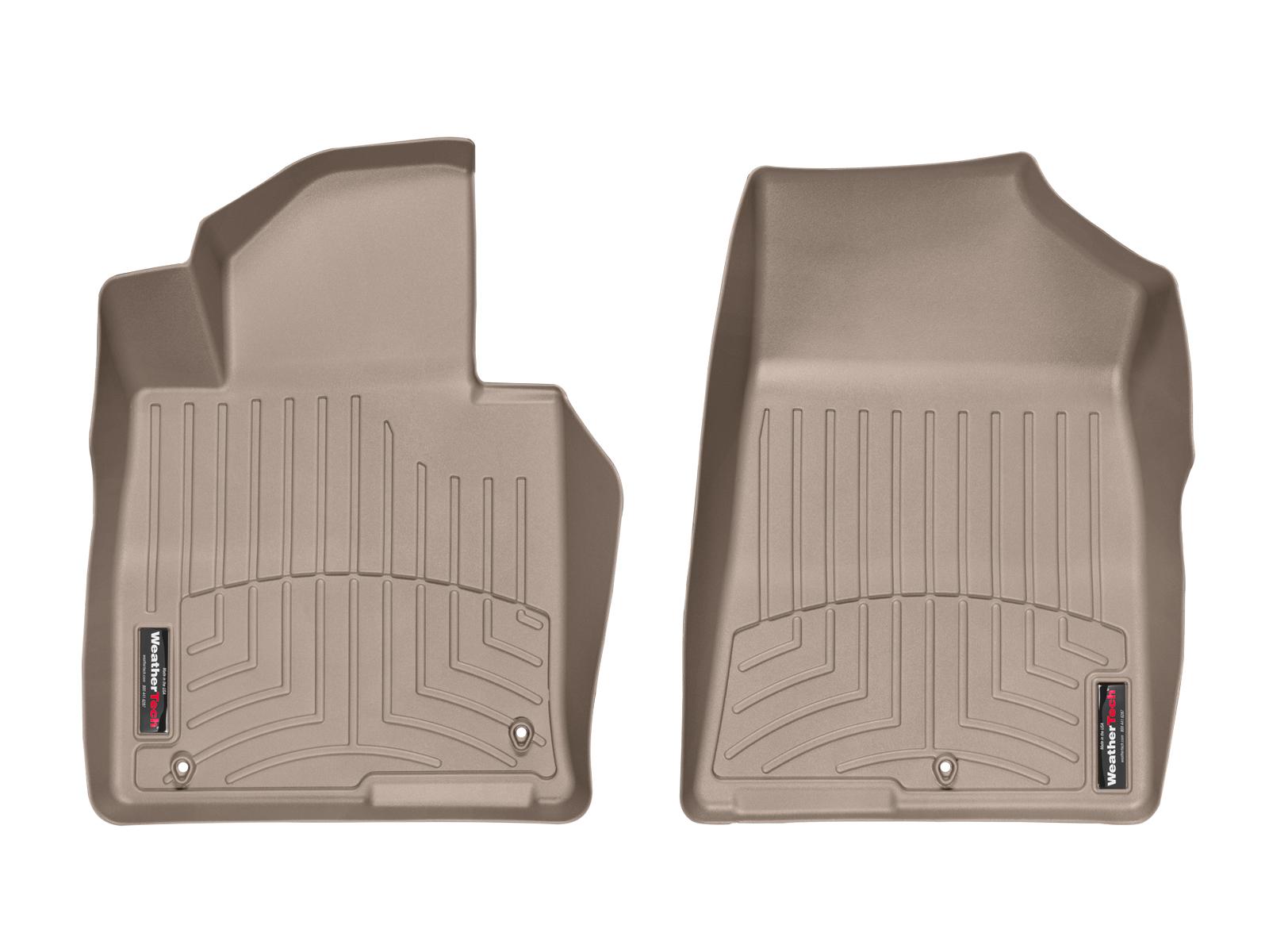 Tappeti gomma su misura bordo alto Kia Optima 16>17 Marrone A1768*