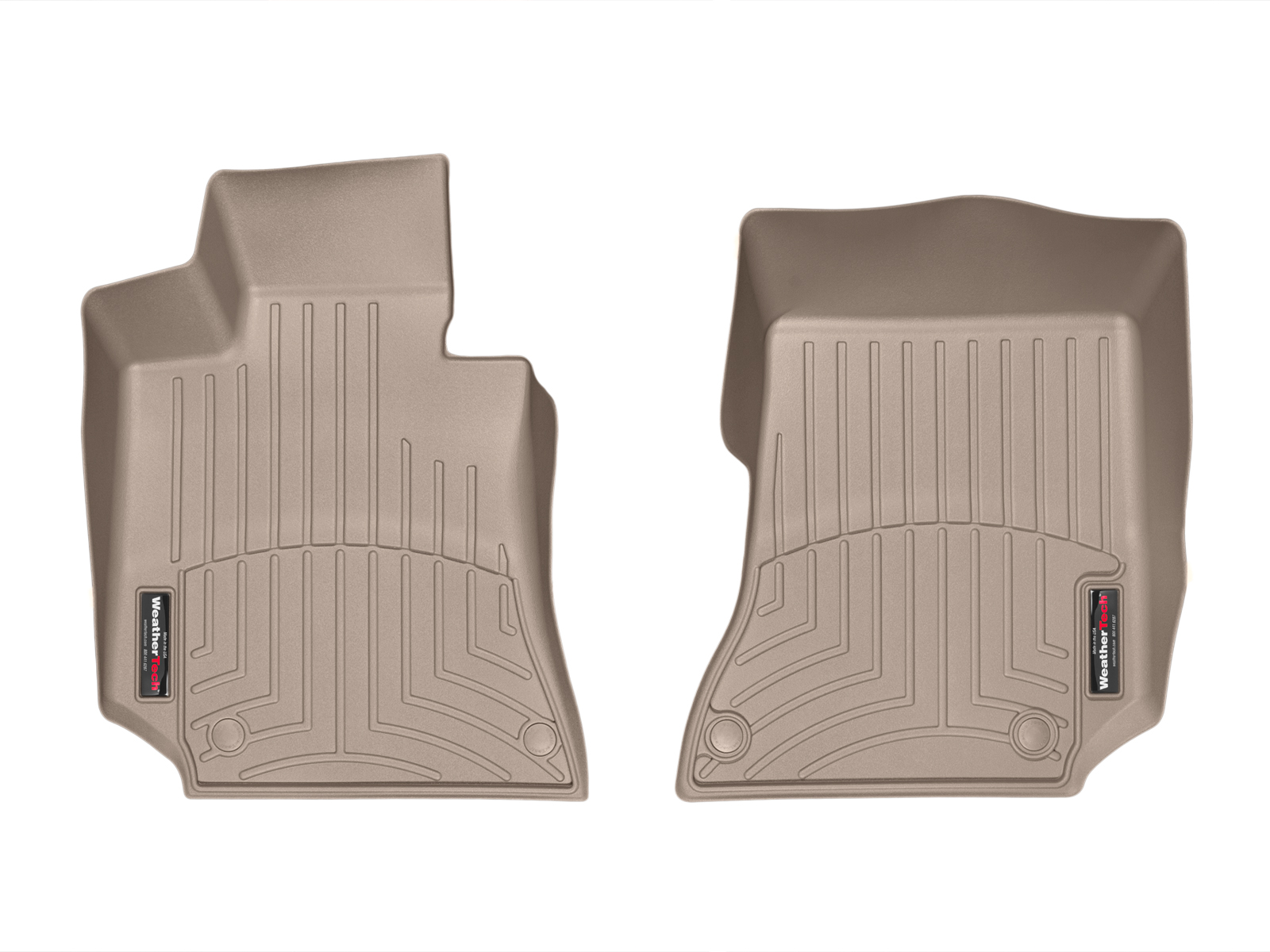 Tappeti gomma su misura bordo alto Mercedes CLS-Class 15>17 Marrone A2342*
