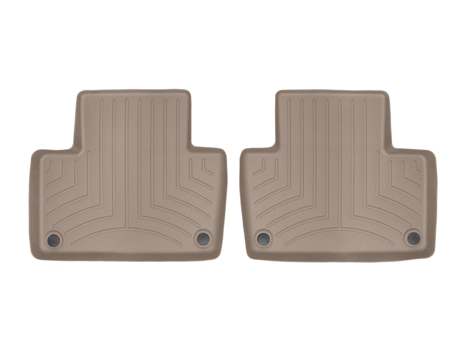 Tappeti gomma su misura bordo alto Volvo XC90 15>17 Marrone A4457*