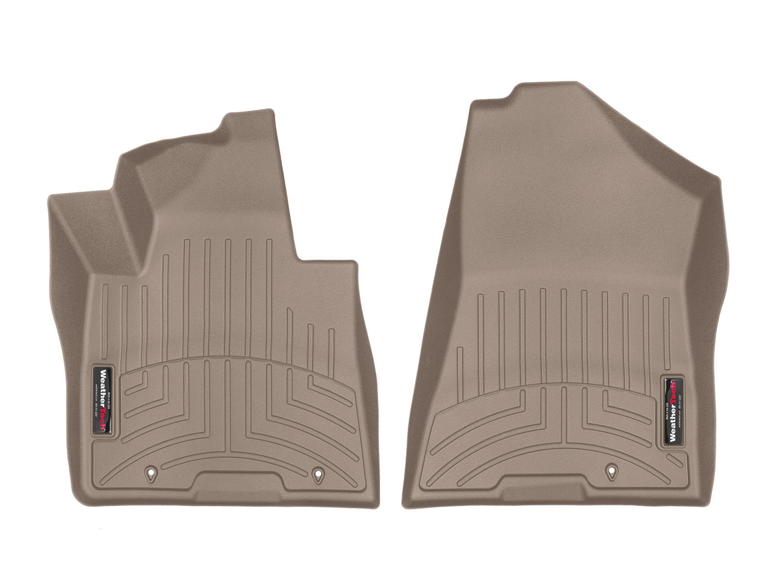 Tappeti gomma su misura bordo alto Hyundai Tucson 15>17 Marrone A1500
