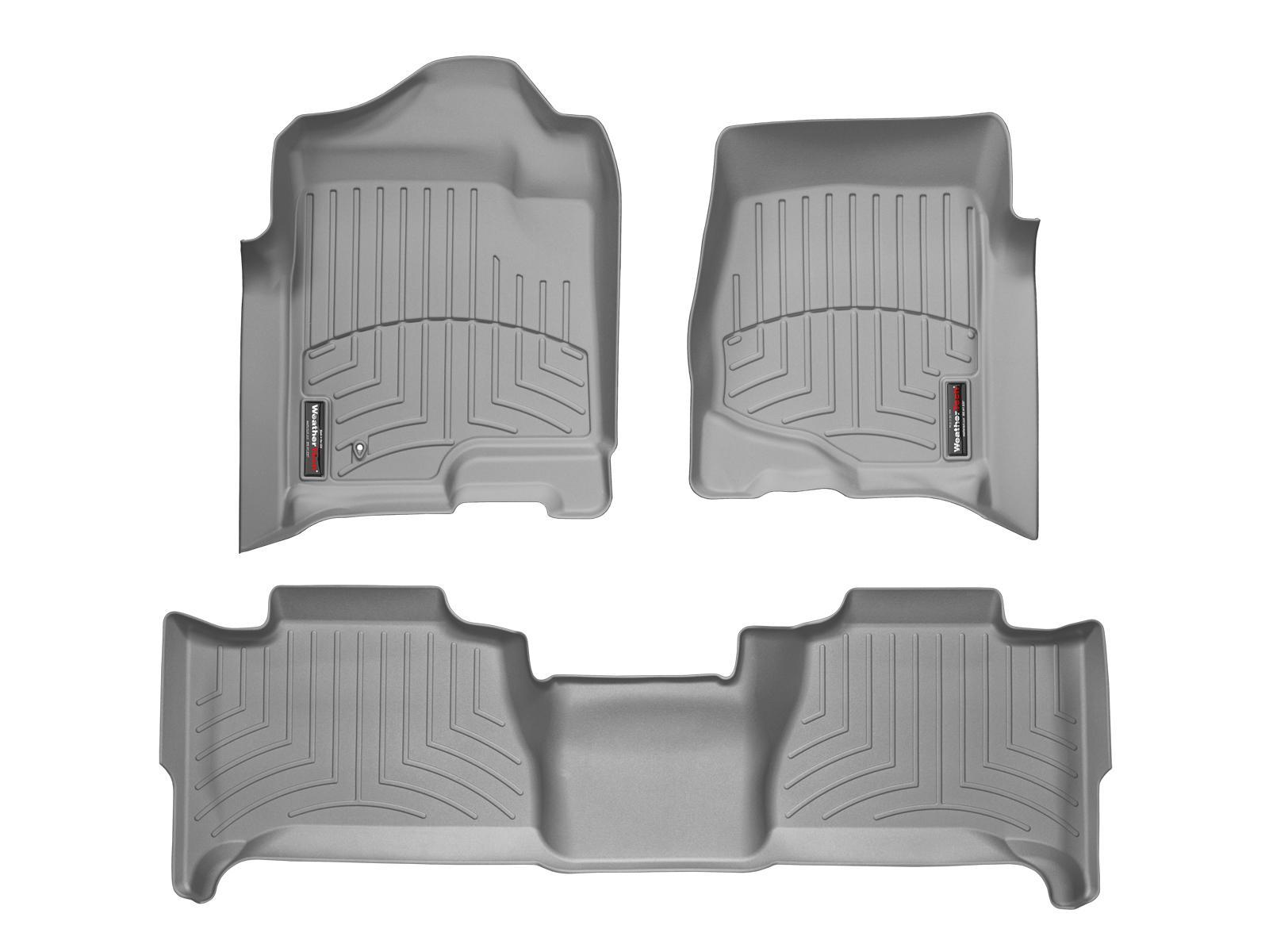 Tappeti gomma su misura bordo alto Cadillac Escalade ESV 07>14 Grigio A54*