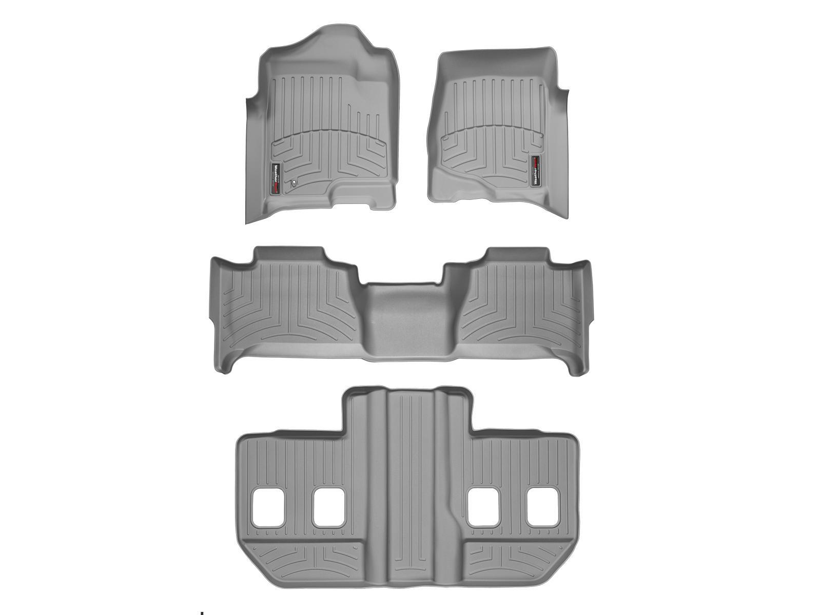 Tappeti gomma su misura bordo alto Cadillac Escalade ESV 07>10 Grigio A43*