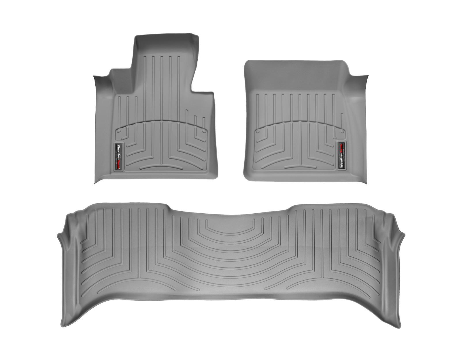 Tappeti gomma su misura bordo alto Land Rover 03>06 Grigio A1893*