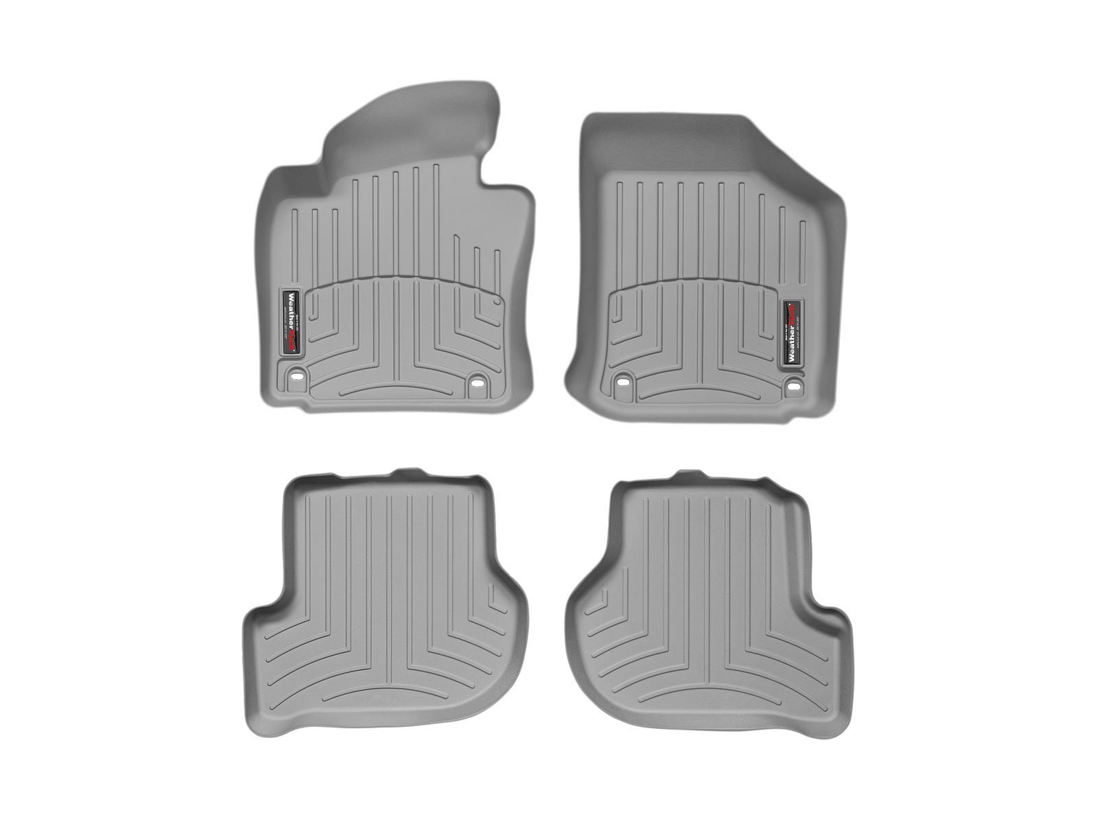 Tappeti gomma su misura bordo alto Volkswagen Golf GT 05>09 Grigio A4072*