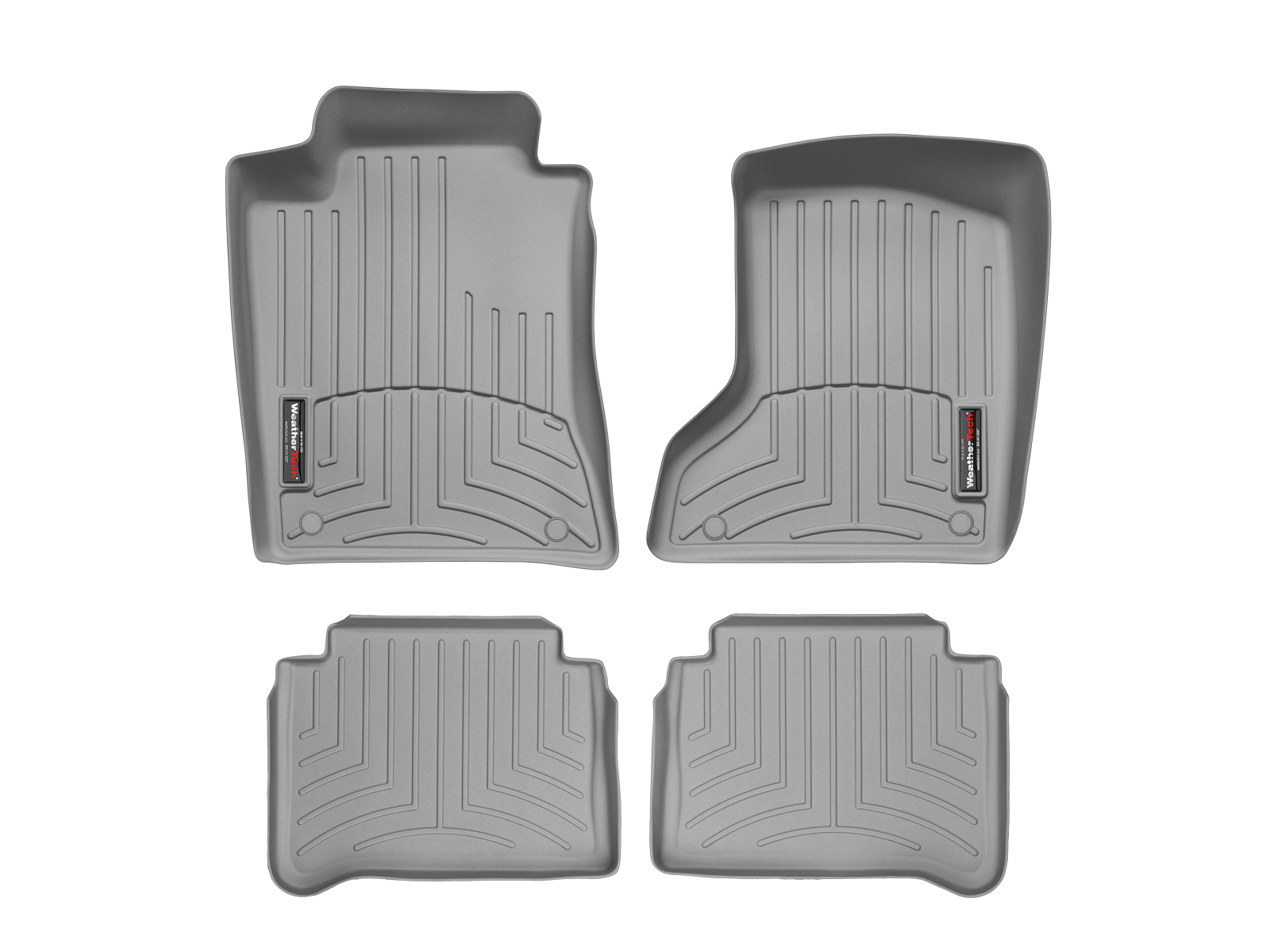 Tappeti gomma su misura bordo alto Mercedes E-Class 03>09 Grigio A2361*