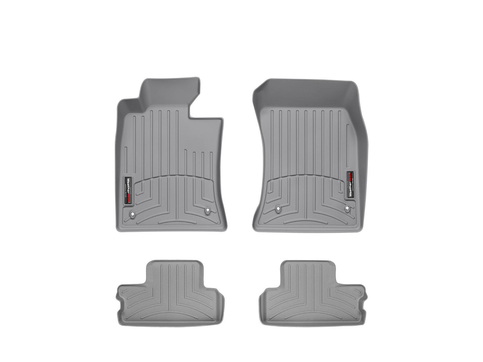 Tappeti gomma su misura bordo alto MINI Cooper / Cooper S 09>13 Grigio A2684*