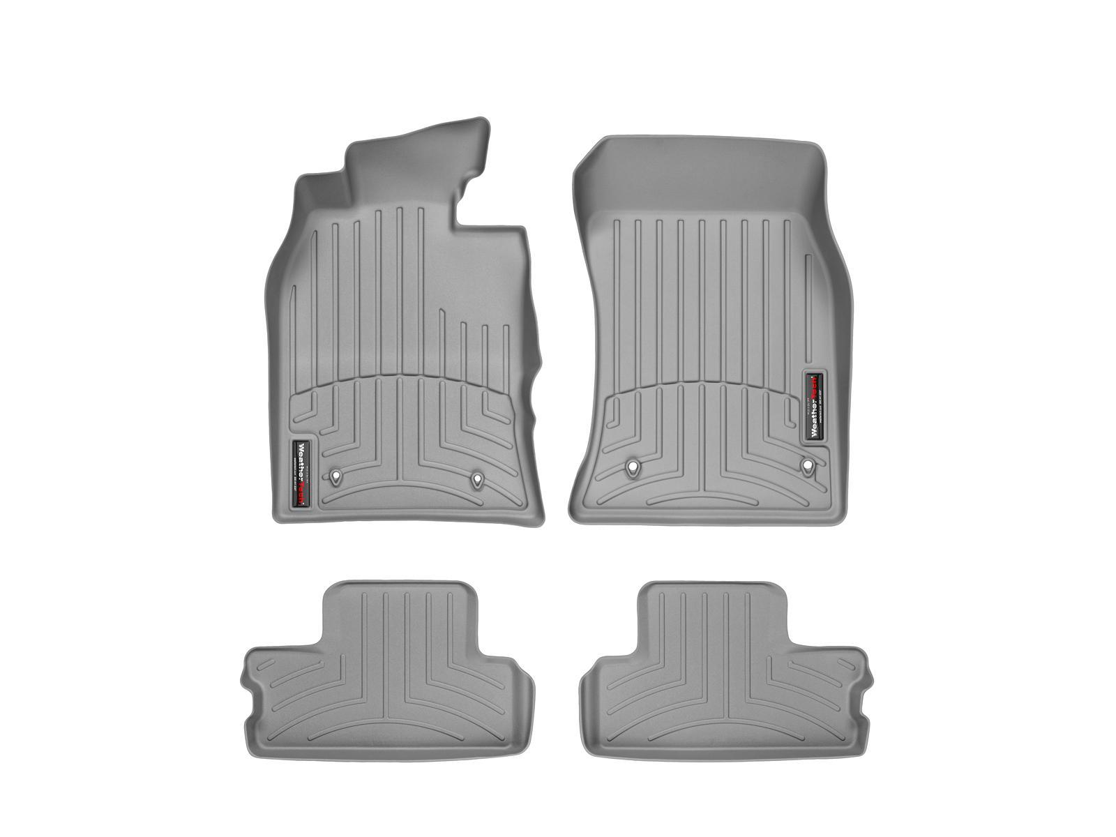 Tappeti gomma su misura bordo alto MINI Cooper / Cooper S 07>07 Grigio A2672*
