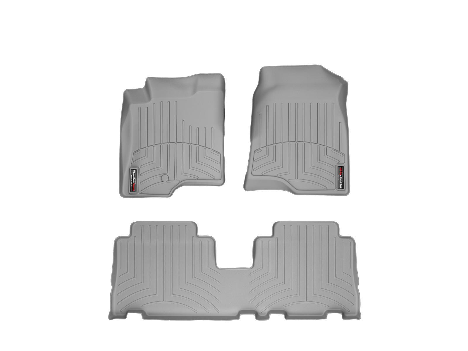 Tappeti gomma su misura bordo alto Chevrolet Captiva 06>11 Grigio A106*