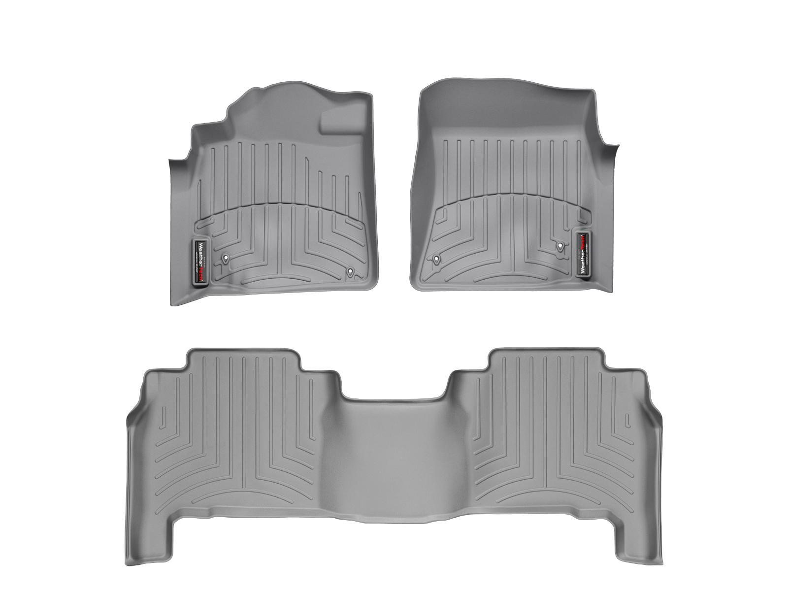 Tappeti gomma su misura bordo alto Toyota Land Cruiser V8 12>12 Grigio A3707*