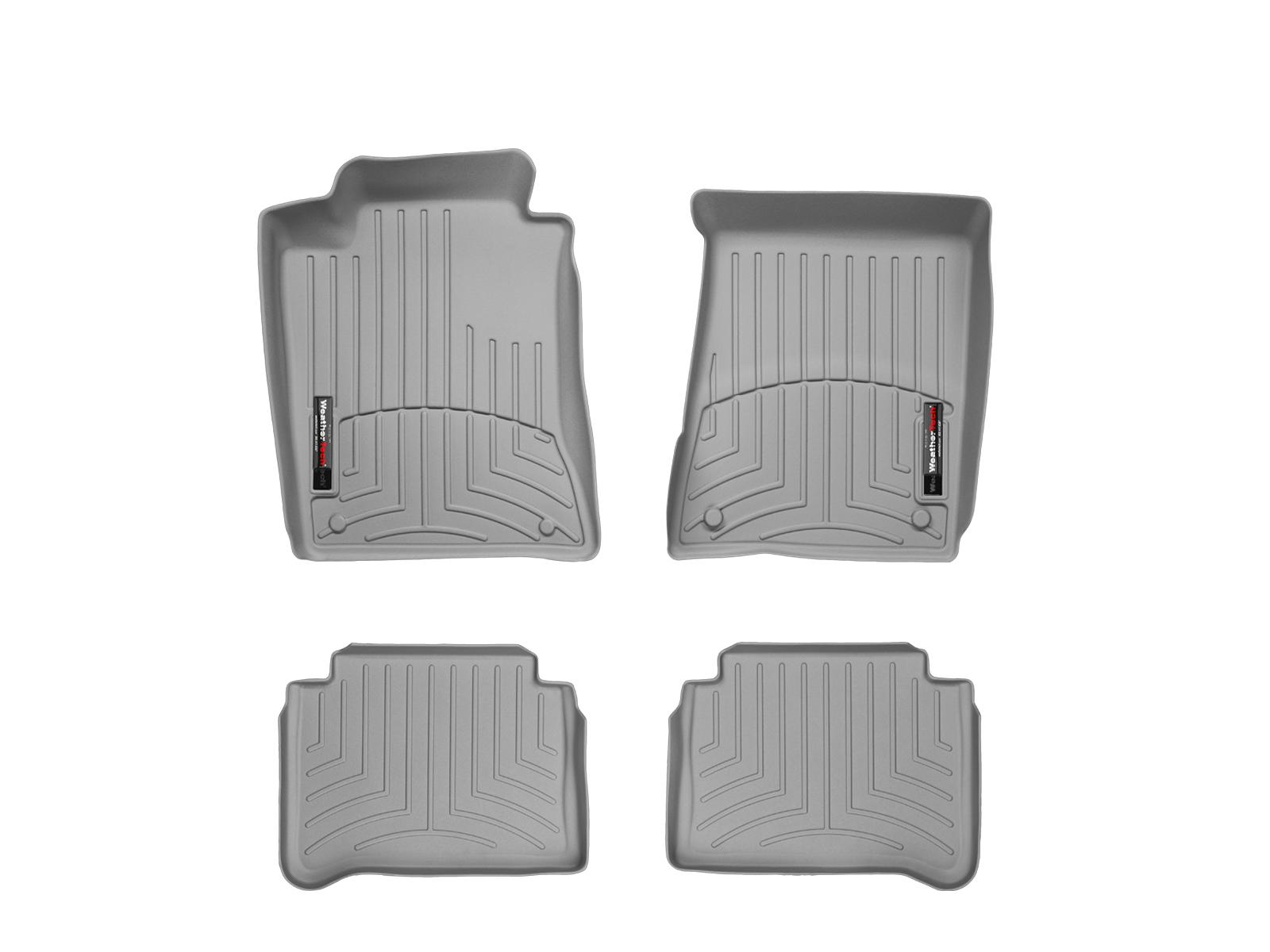 Tappeti gomma su misura bordo alto Mercedes E-Class 02>09 Grigio A2347*