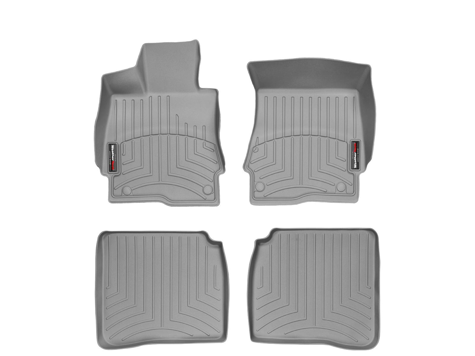 Tappeti gomma su misura bordo alto Mercedes S-Class 06>12 Grigio A2553