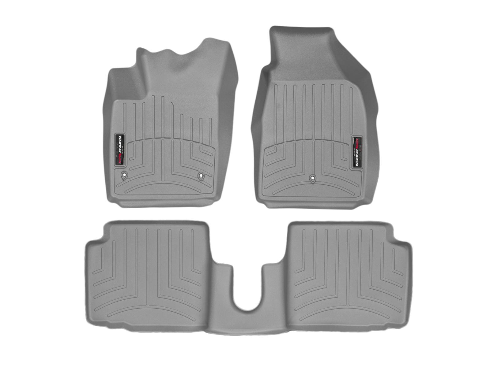 Tappeti gomma su misura bordo alto Fiat 500C 09>17 Grigio A761*