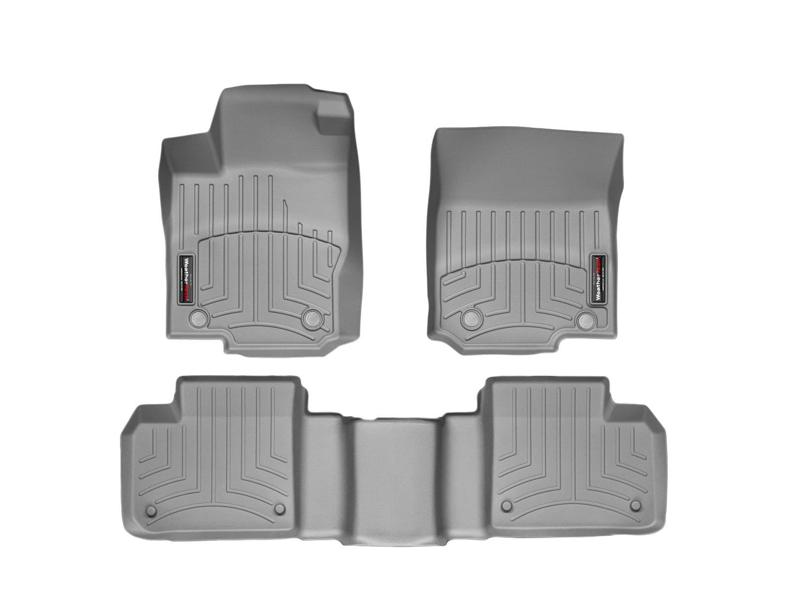 Tappeti gomma su misura bordo alto Mercedes GLS-Class 15>17 Grigio A2508