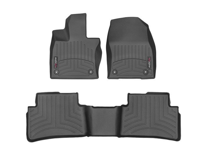 Front and Rear Black Single Layer Custom Fit Made in USA for 2019 2020 Lexus UX SUV UX250 UX250h All Weather Heavy Duty Full Coverage Floor Mat Floor Protection