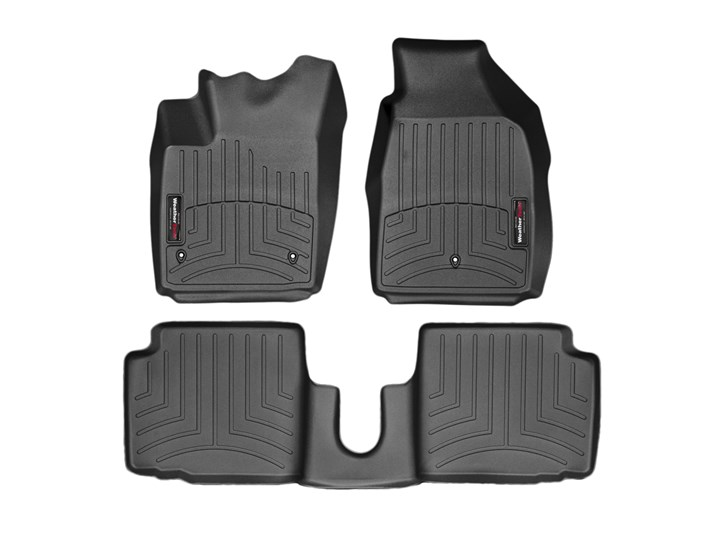 FIAT 595 ABARTH UNIVERSAL CAR CARPET FLOOR MATS RED TRIM SET OF 4