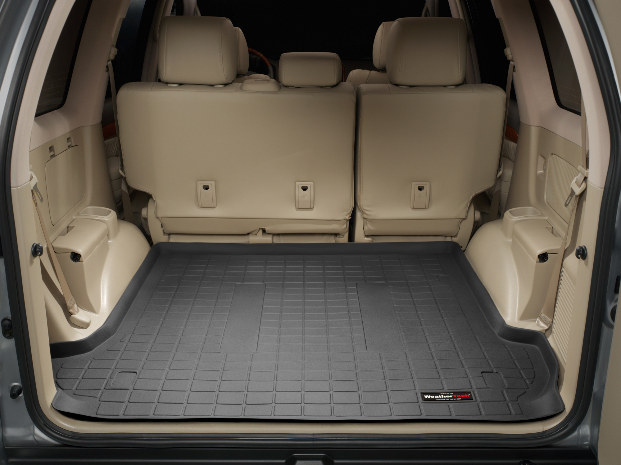 Toyota Land Cruiser 2002>2009 Vasca baule WeatherTech bagagliaio nero *1247*