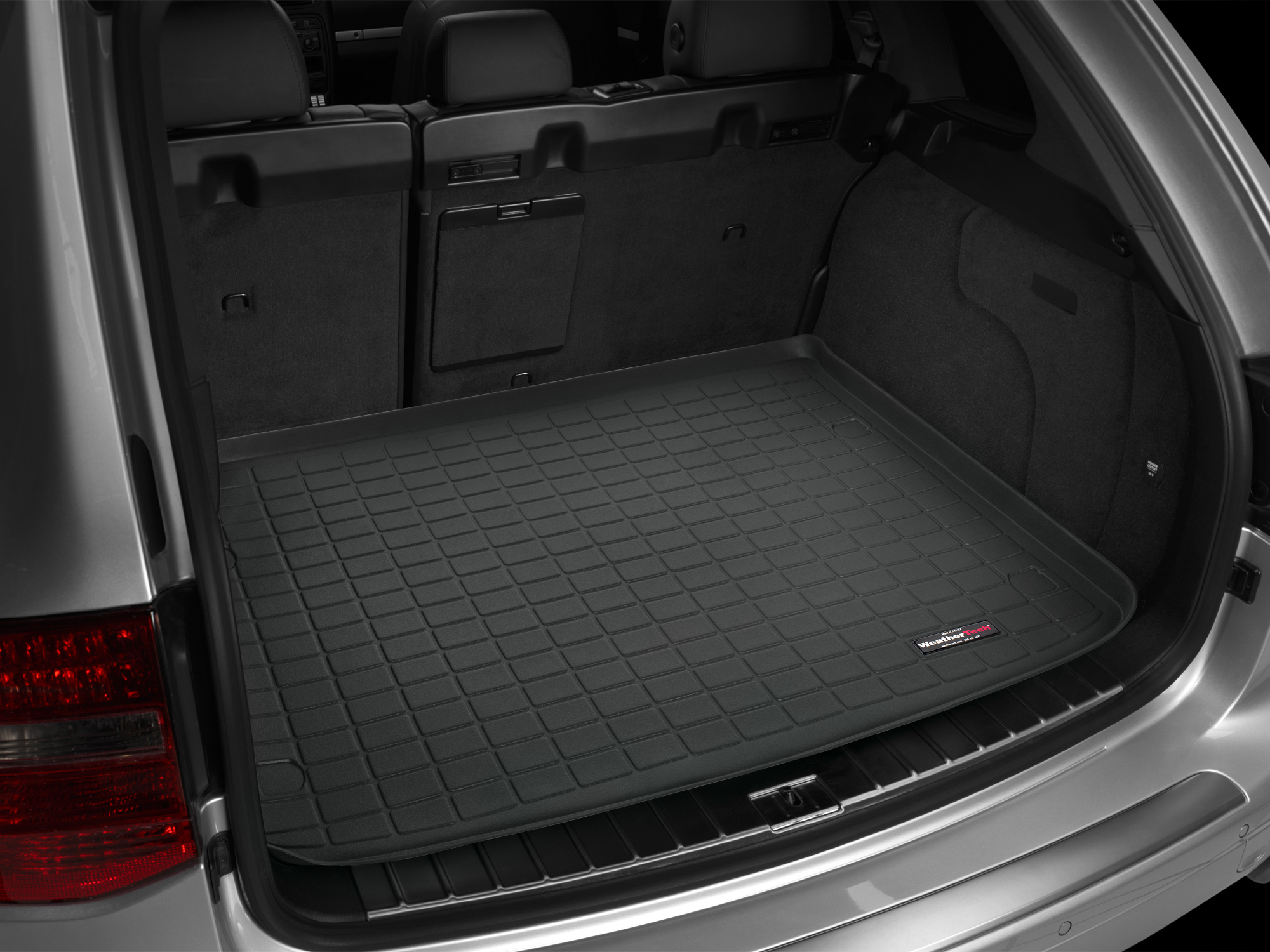 Volkswagen Touareg 2002>2009 Vasca baule tappeto bagagliaio nero *1428