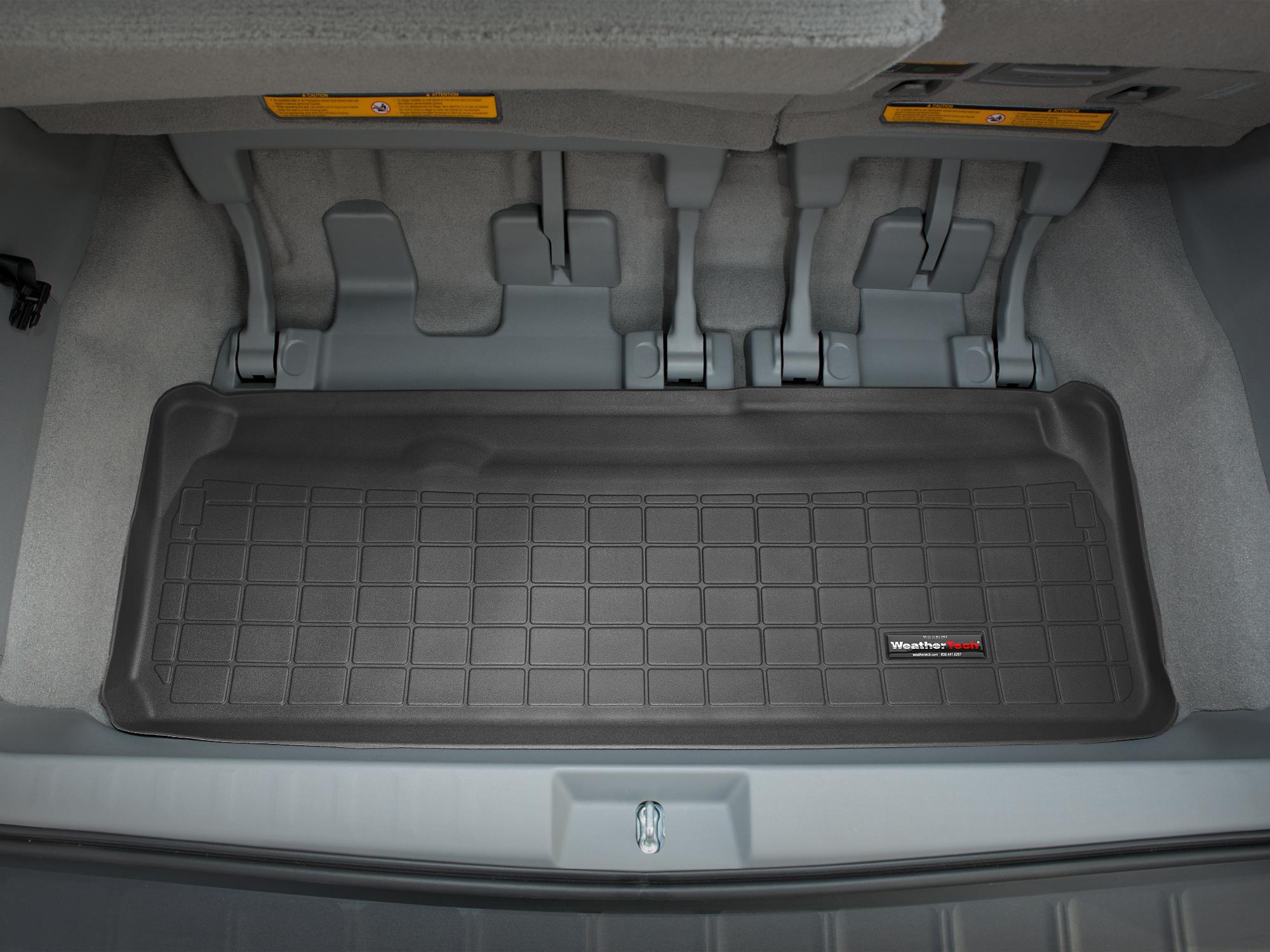 Toyota Sienna 2010>2017 Vasca baule WeatherTech bagagliaio nero *1306*