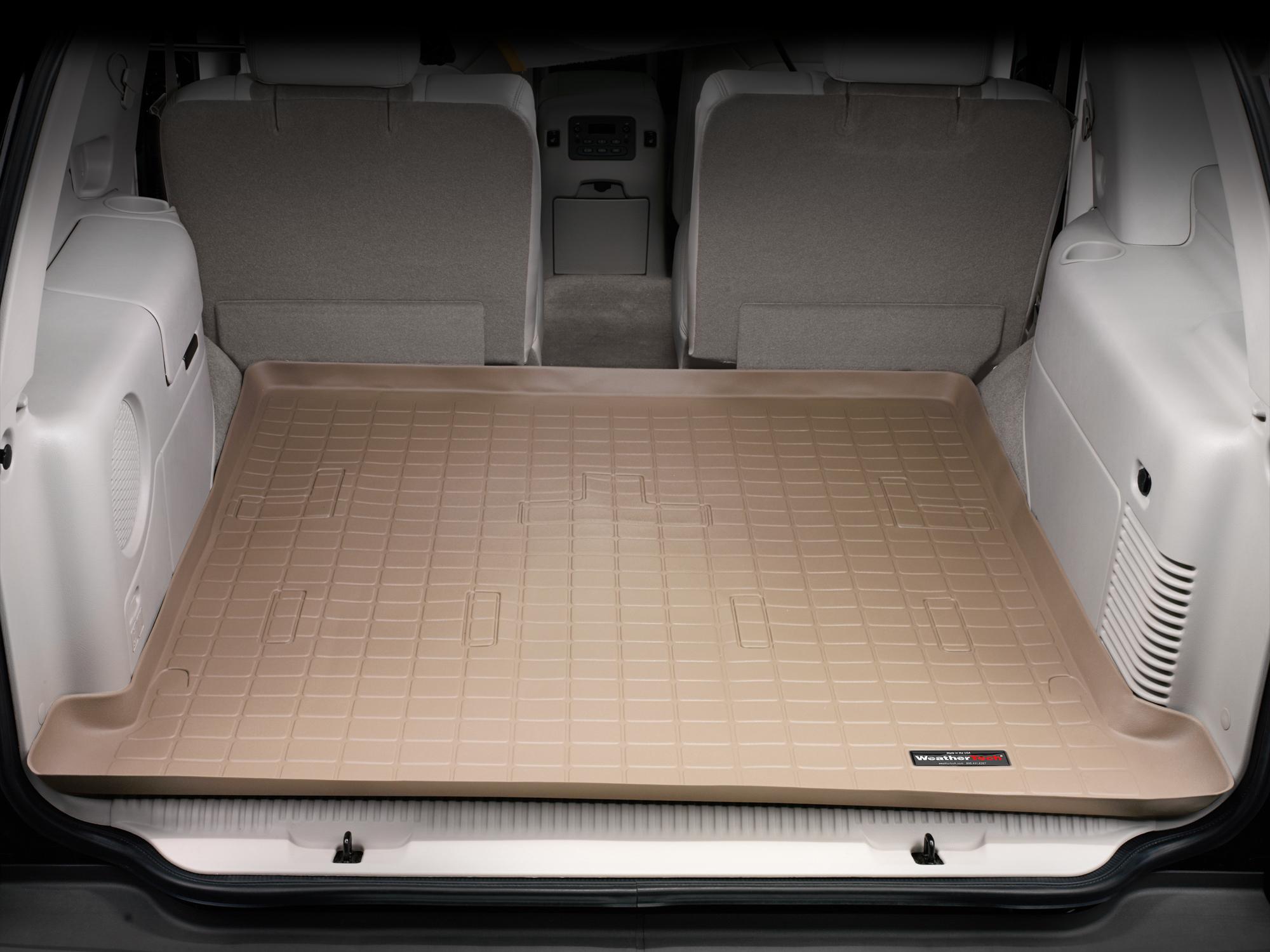 Cadillac Escalade 2002>2006 Vasca proteggi baule tappeto bagagliaio marrone *276