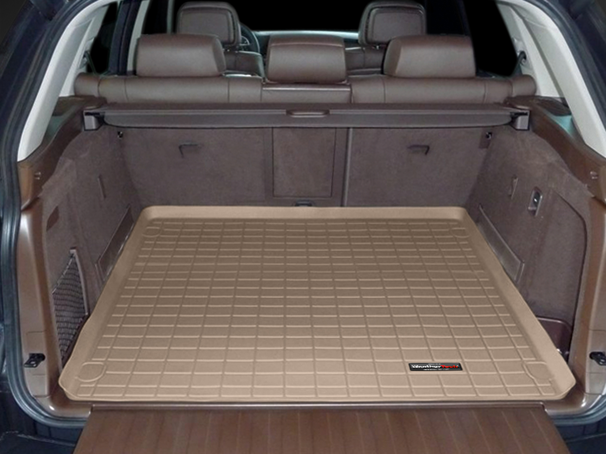 BMW X5 2007>2013 Vasca proteggi baule tappeto bagagliaio marrone *243