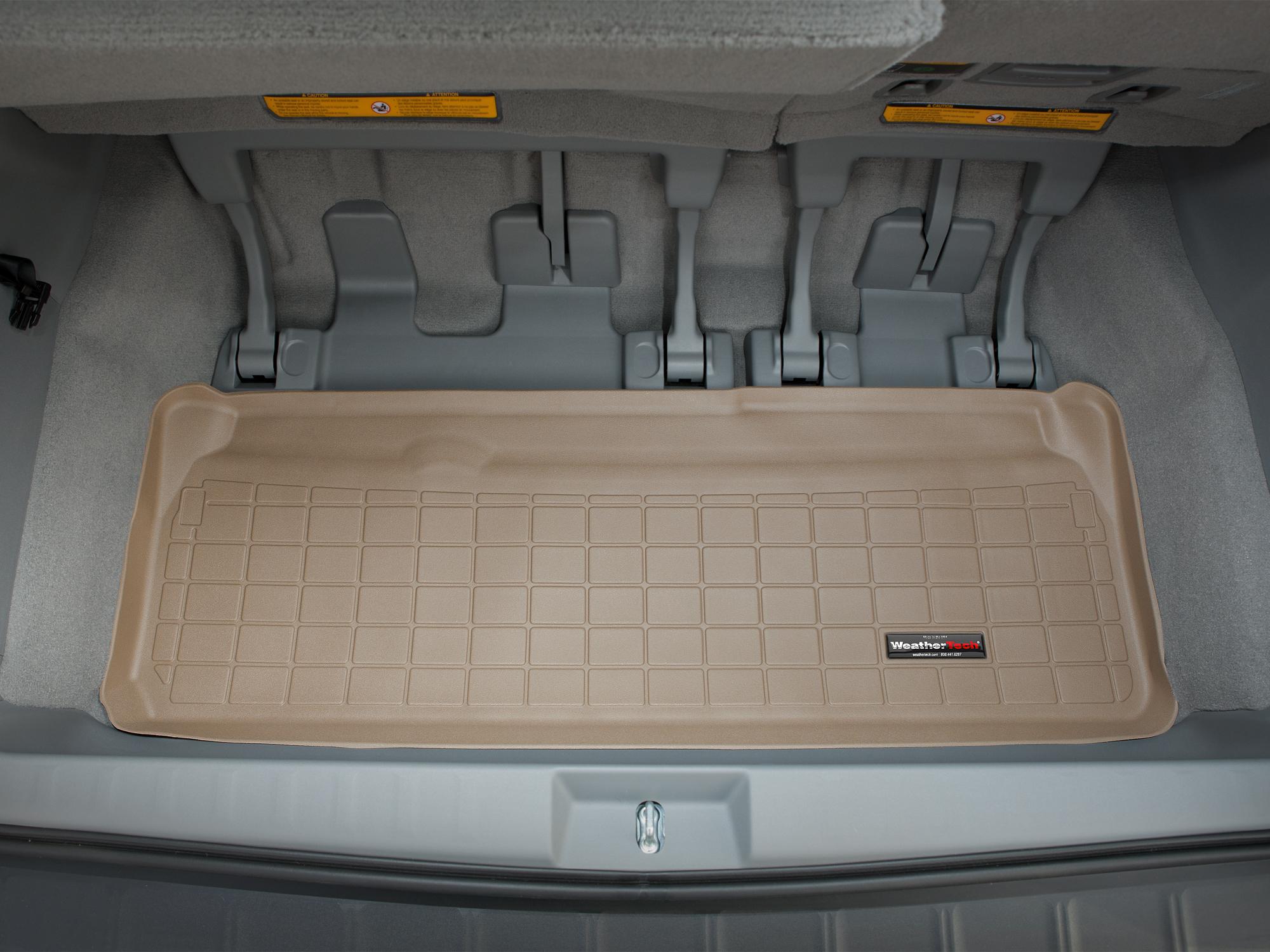 Toyota Sienna 2010>2017 Vasca baule tappeto bagagliaio marrone *1304