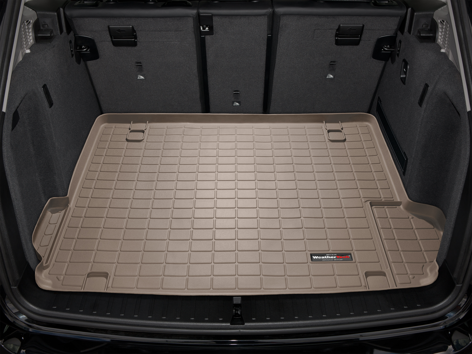 BMW X3 2010>2010 Vasca proteggi baule tappeto bagagliaio marrone *228