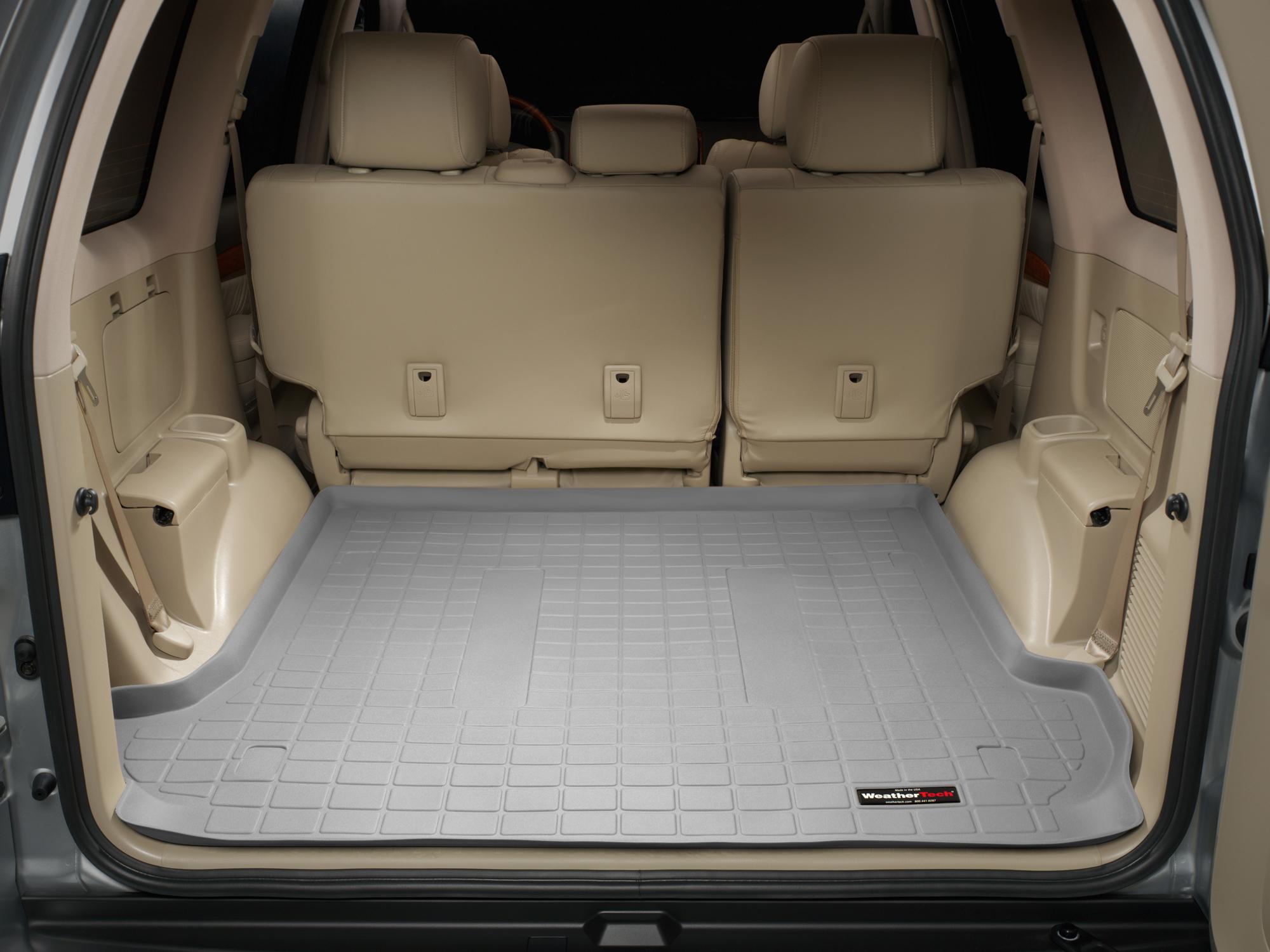 Toyota Land Cruiser 2002>2009 Vasca baule tappeto bagagliaio grigio *1245