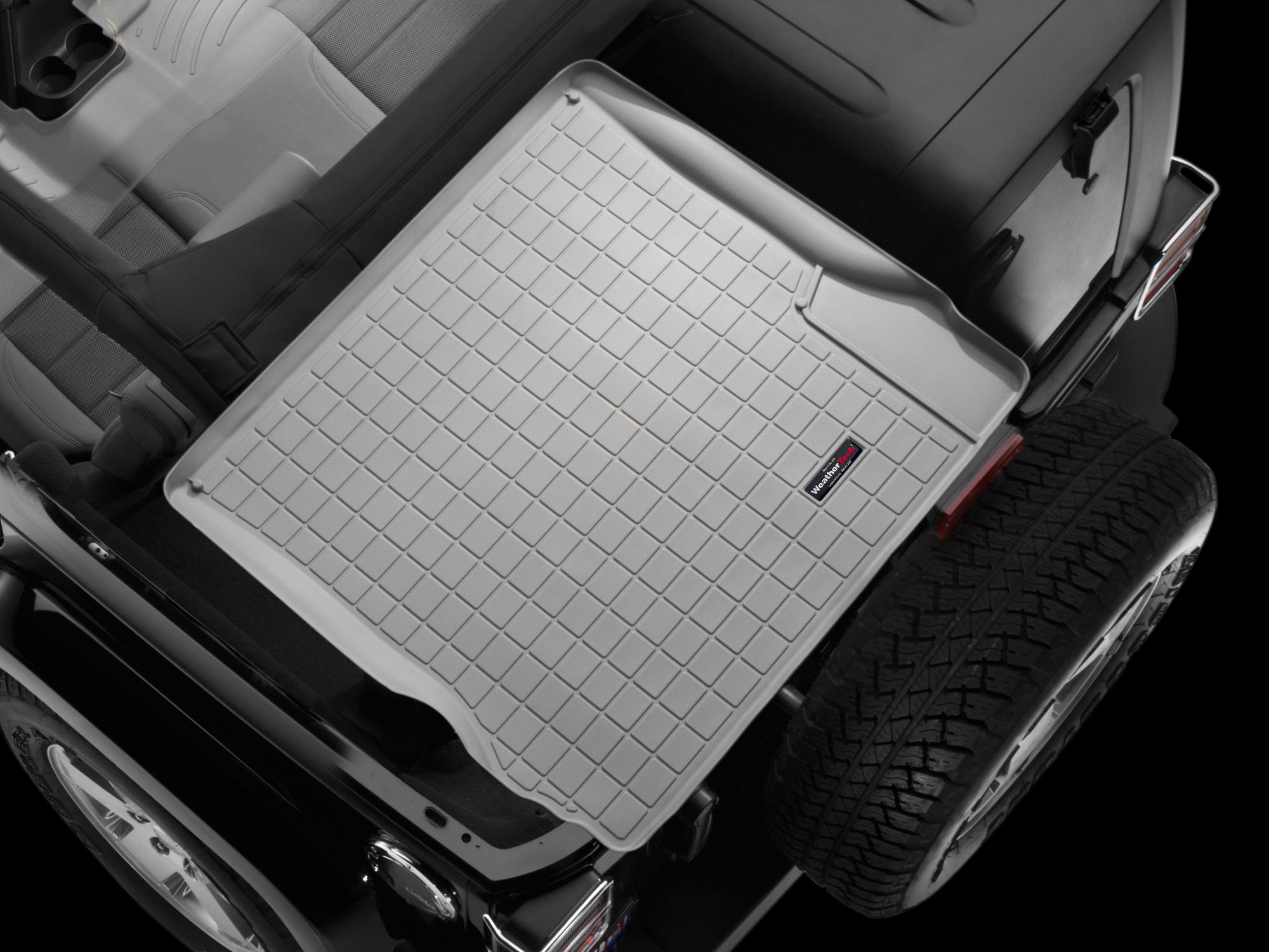 Jeep Wrangler 2007>2010 Vasca proteggi baule tappeto bagagliaio grigio *650