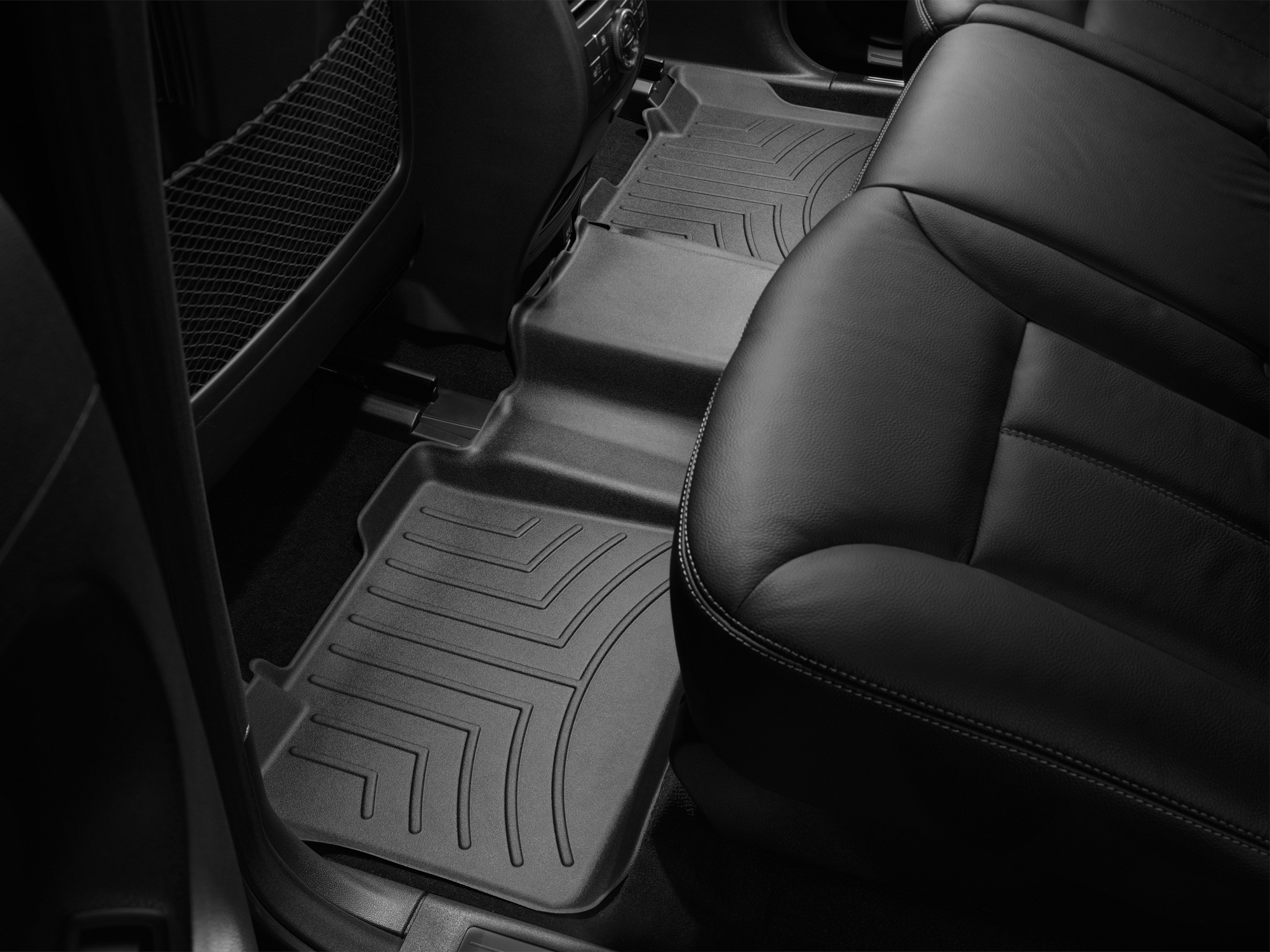 Tappeti gomma su misura bordo alto Mercedes ML-Class 06>11 Nero A2533