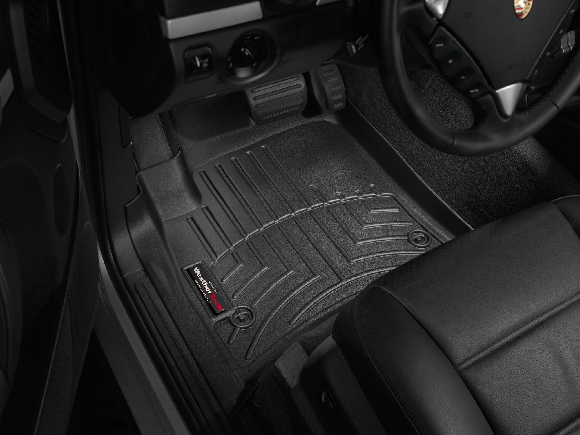Tappeti gomma su misura bordo alto Volkswagen Touareg 07>08 Nero A4296*