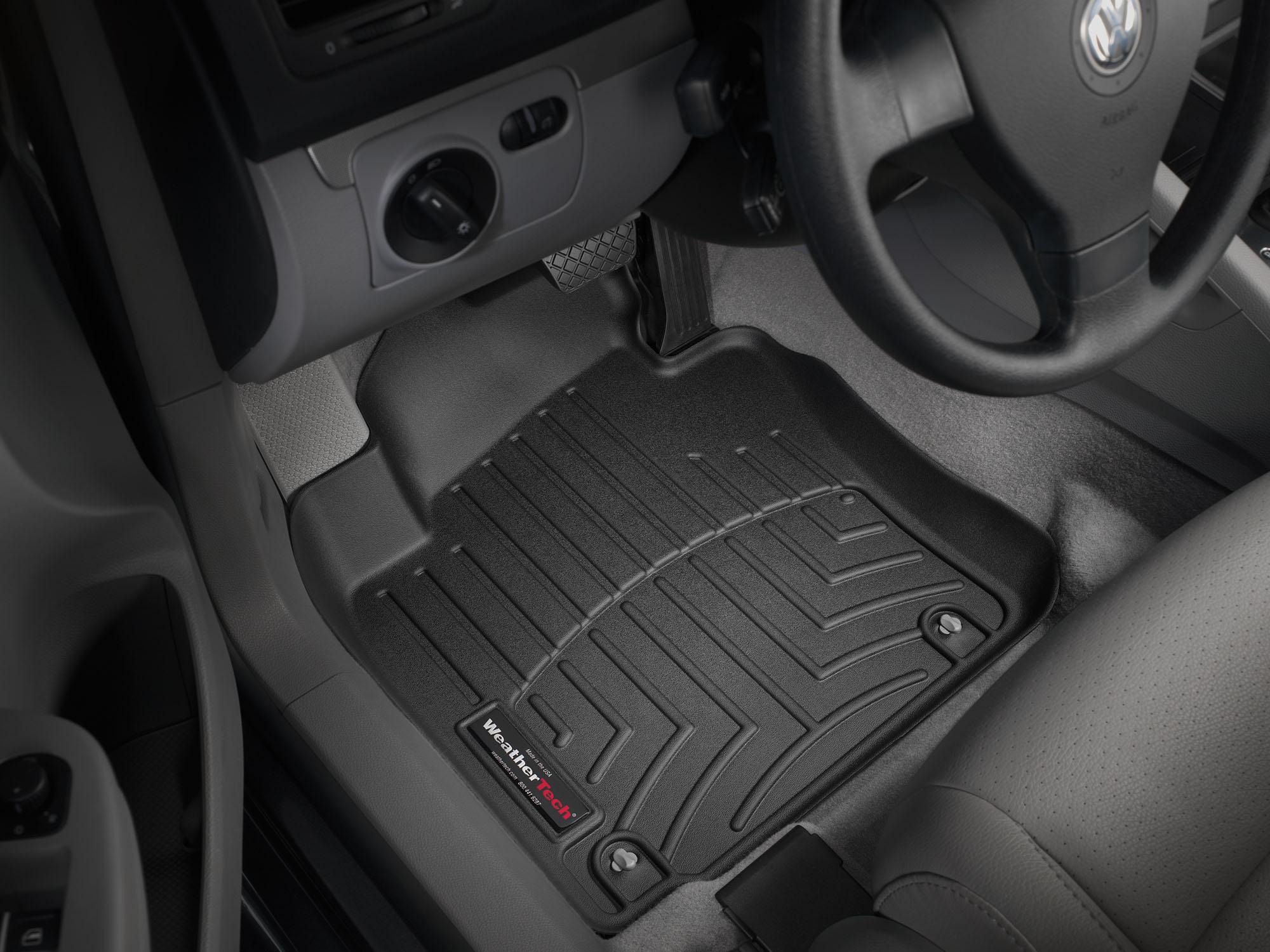 Tappeti gomma su misura bordo alto Volkswagen Eos 07>08 Nero A4009*