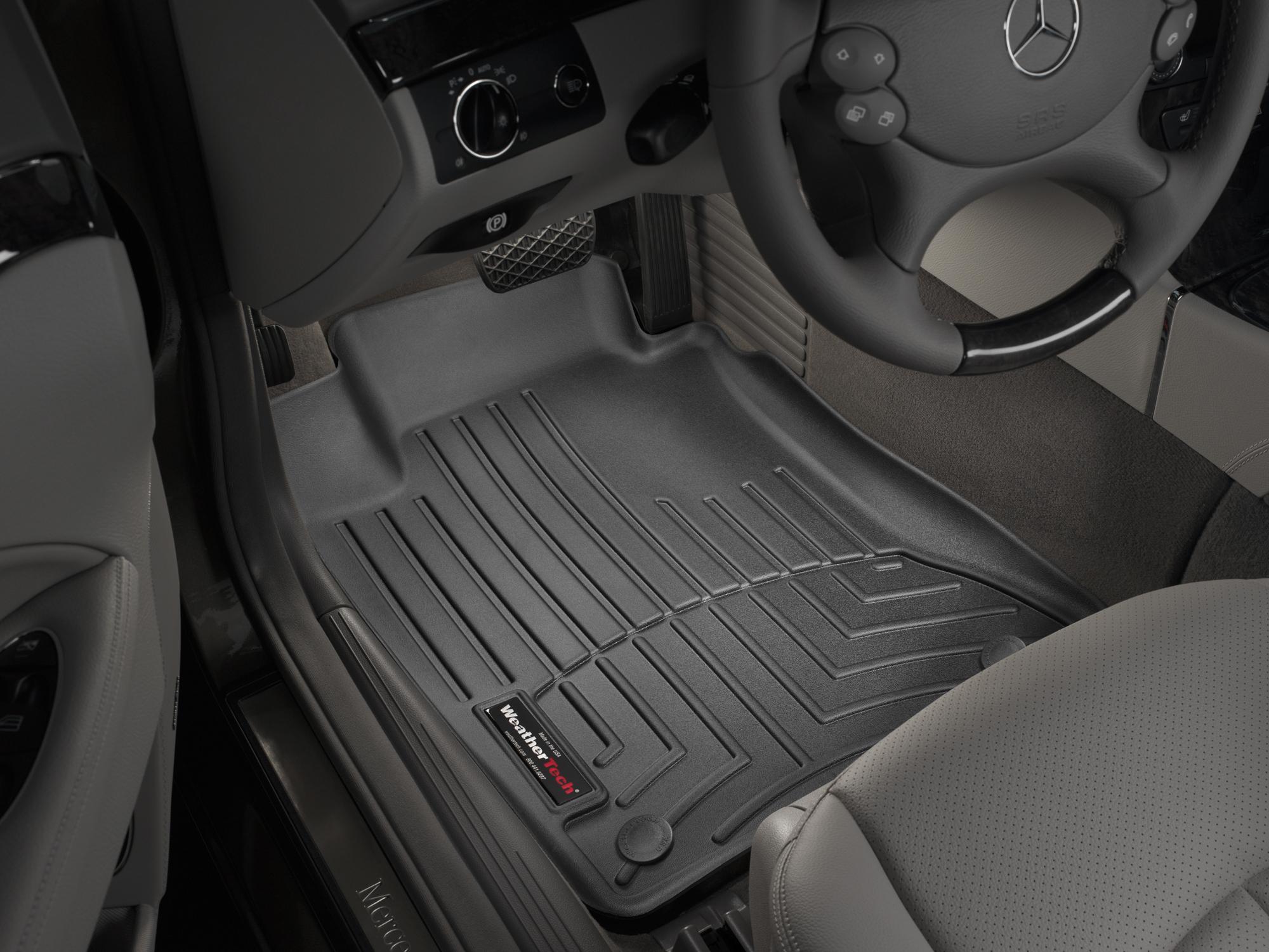 Tappeti gomma su misura bordo alto Mercedes E-Class 02>09 Nero A2355*