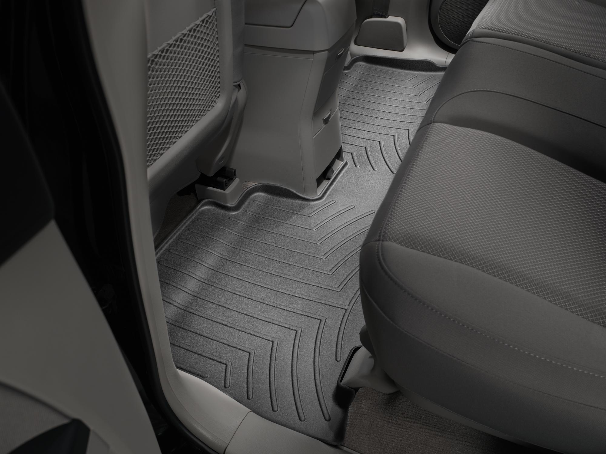 Tappeti gomma su misura bordo alto Chevrolet Captiva 06>11 Nero A113*