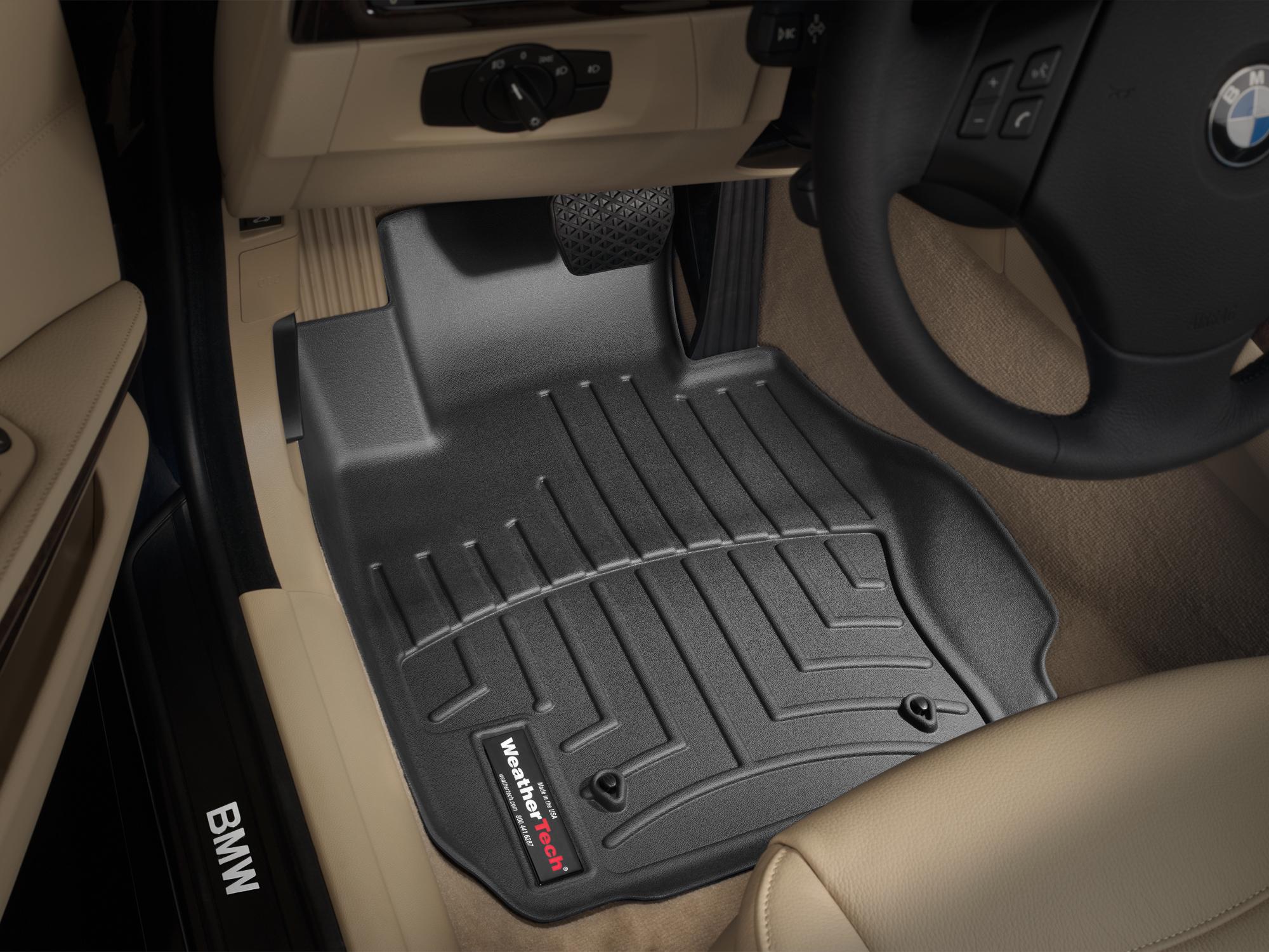 BMW Serie 3 E90/E91/E92/E93 05>11 Tappeti gomma su misura bordo alto nero*